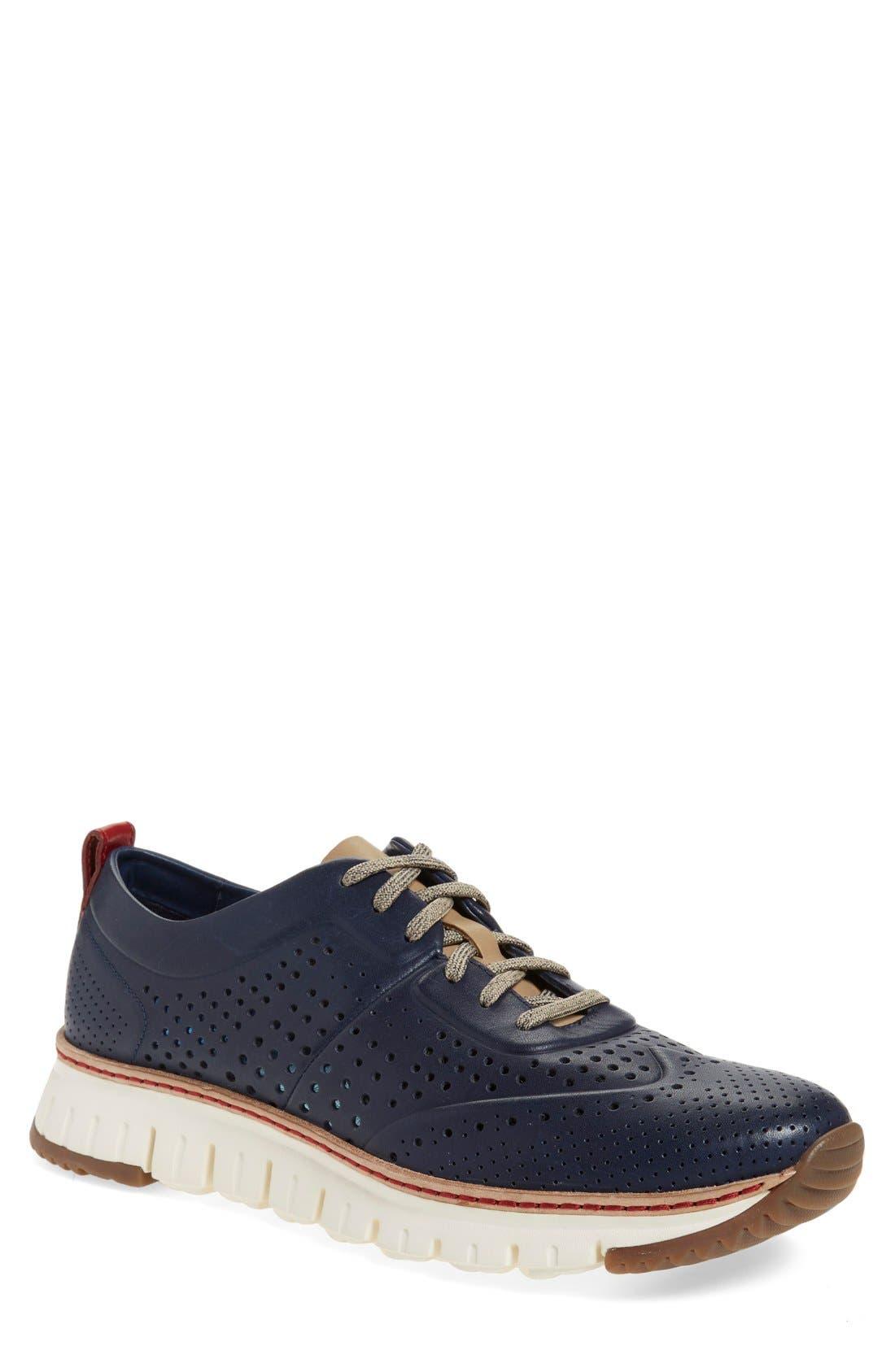 COLE HAAN 'ZerøGrand' Perforated Wingtip Sneaker, Main, color, 400