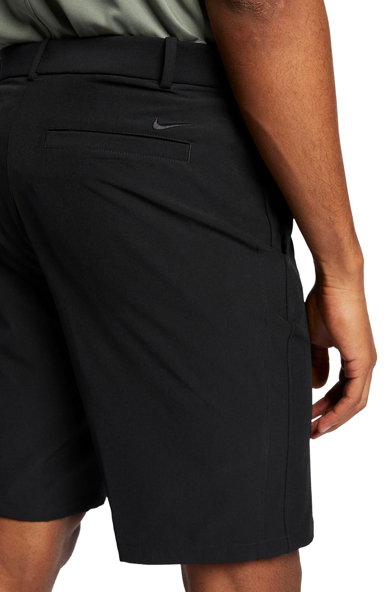 Flex Hybrid Standard Fit Golf Shorts,                             Alternate thumbnail 3, color,                             BLACK/ BLACK