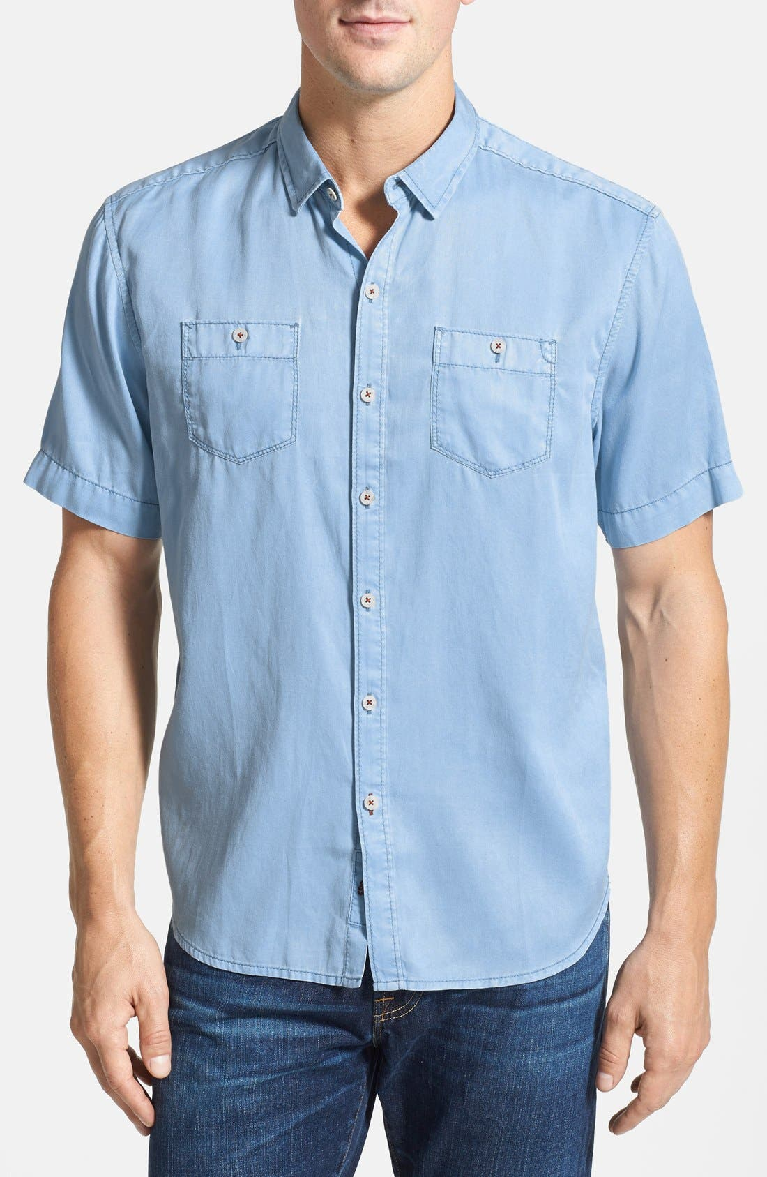 'New Twilly' Island Modern Fit Short Sleeve Twill Shirt,                             Main thumbnail 9, color,