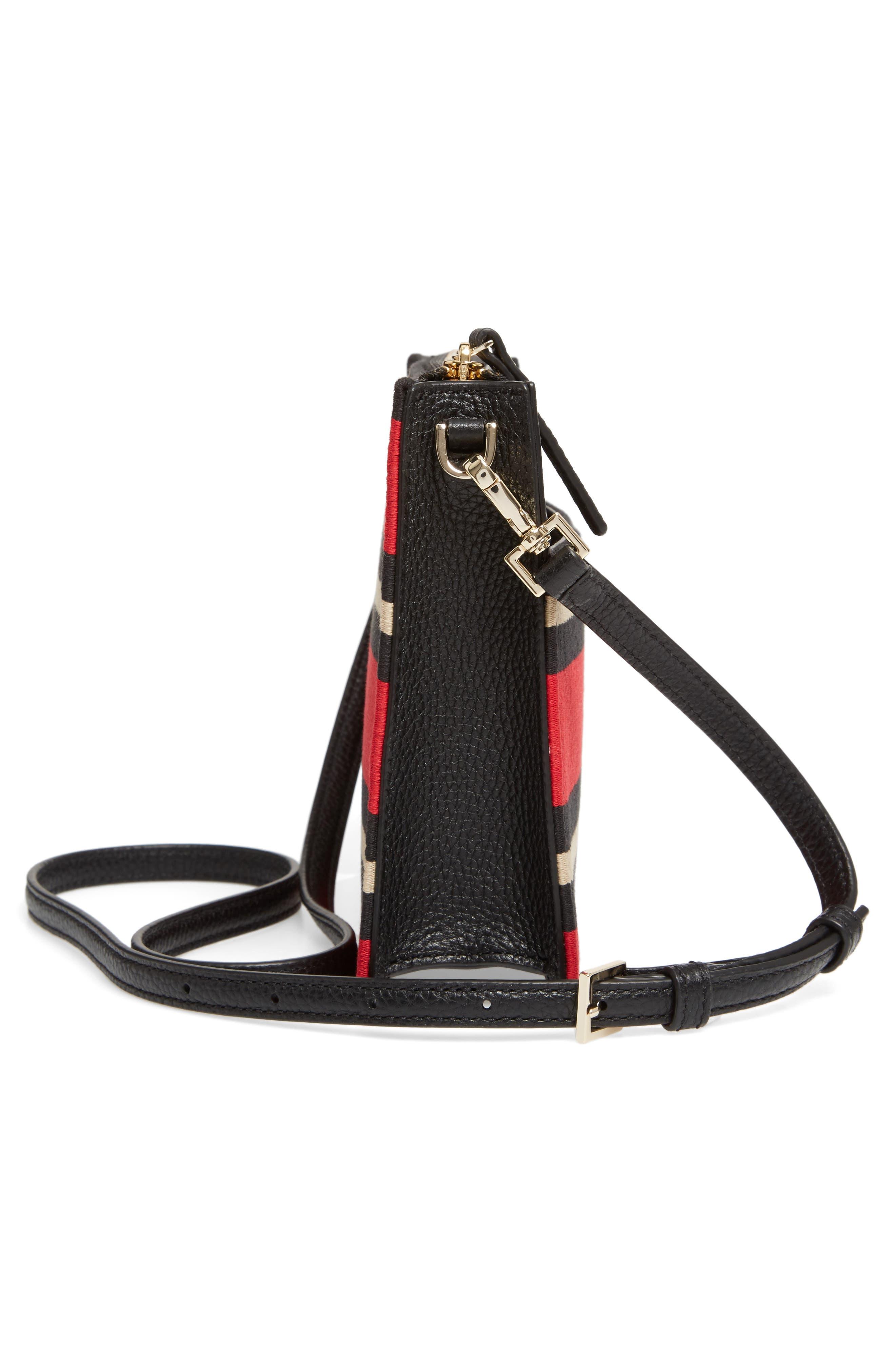 steward street clarise grosgrain stripe shoulder bag,                             Alternate thumbnail 5, color,                             600