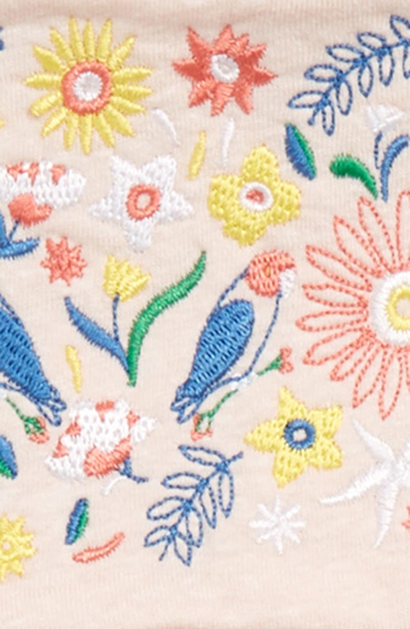 Embroidered Flutter Sleeve Dress,                             Alternate thumbnail 2, color,                             680