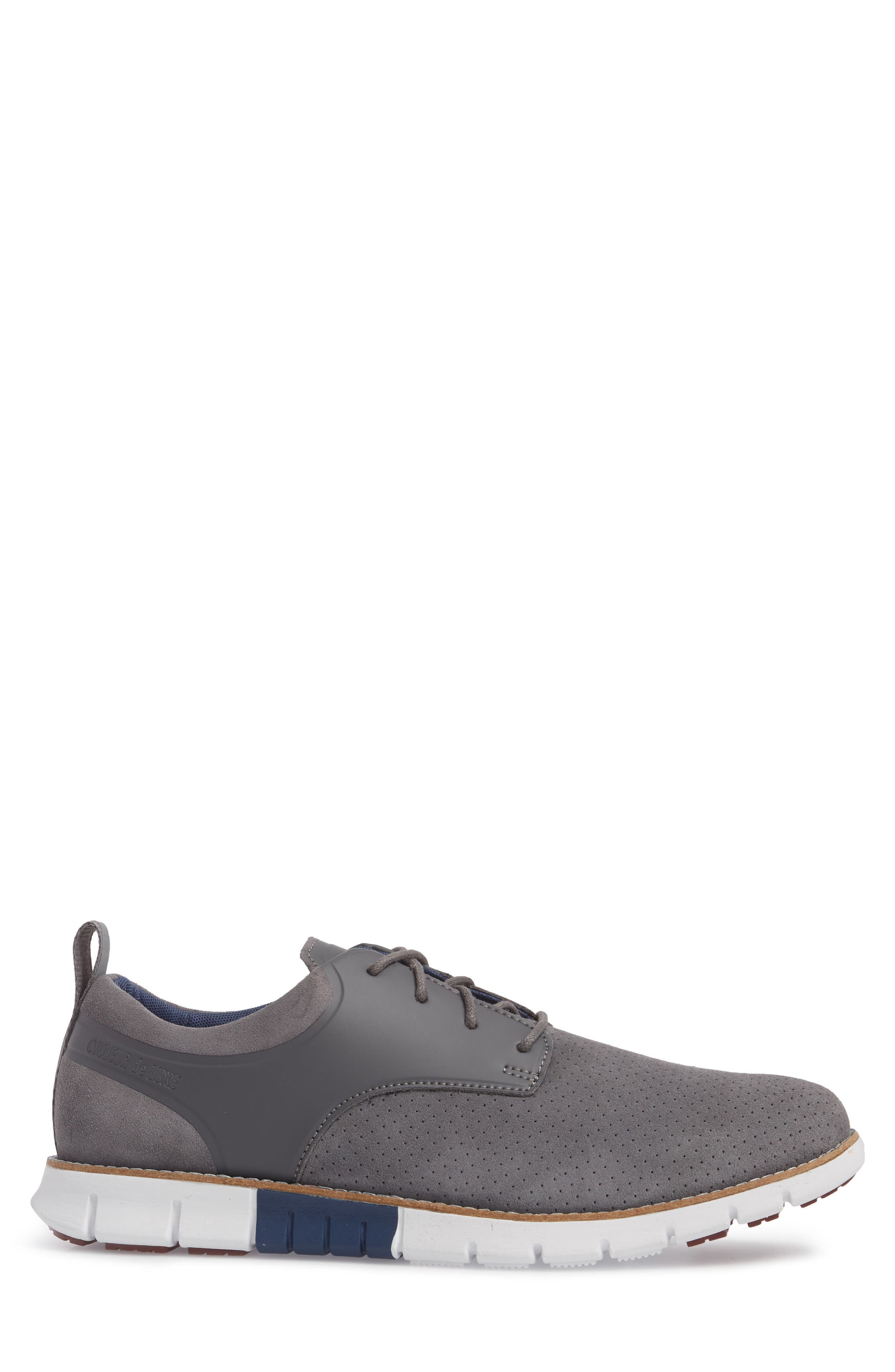 Ridley Perforated Low Top Sneaker,                             Alternate thumbnail 3, color,                             020