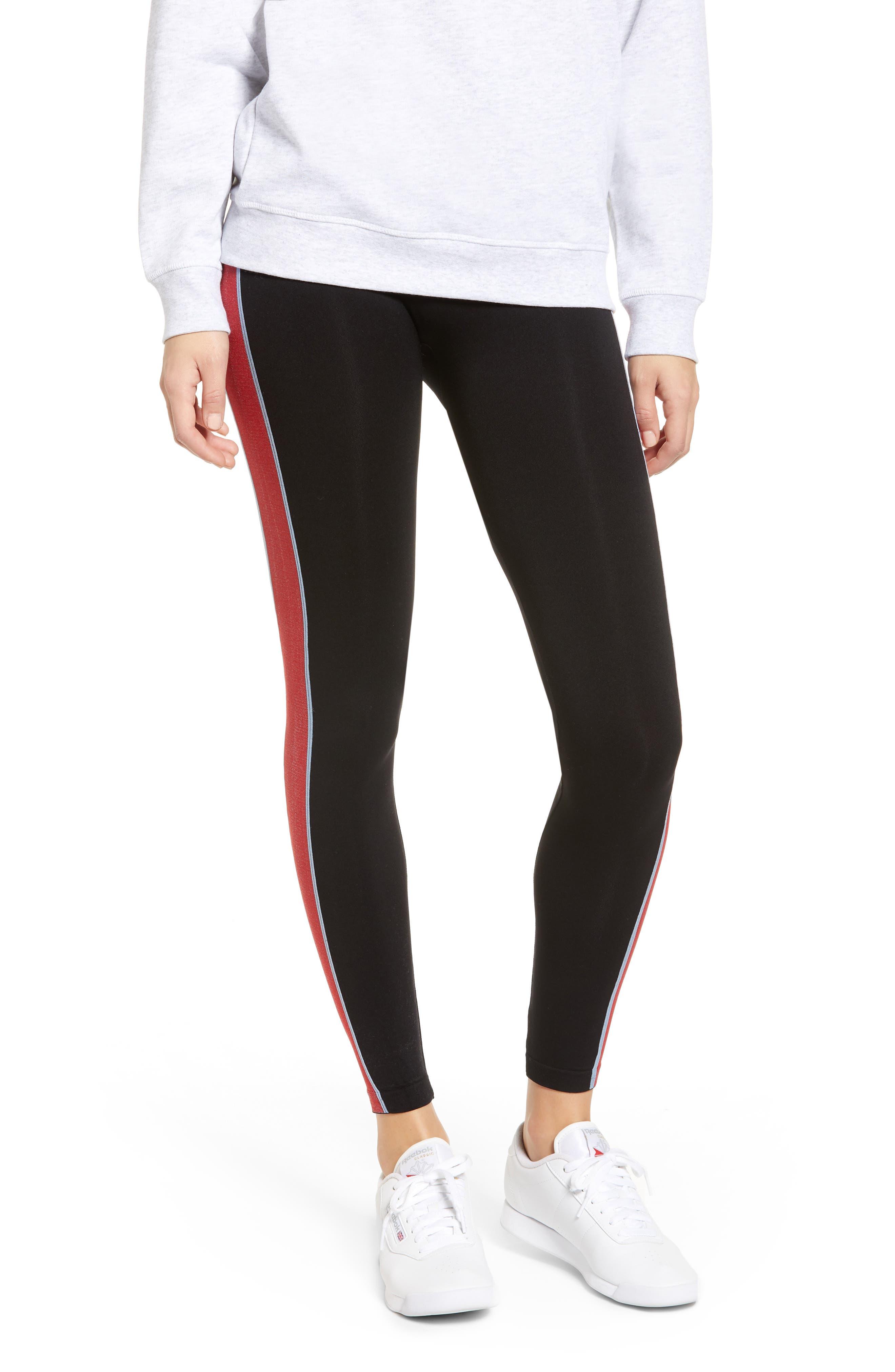 Calvin Klein Logo Stripe Leggings, Black