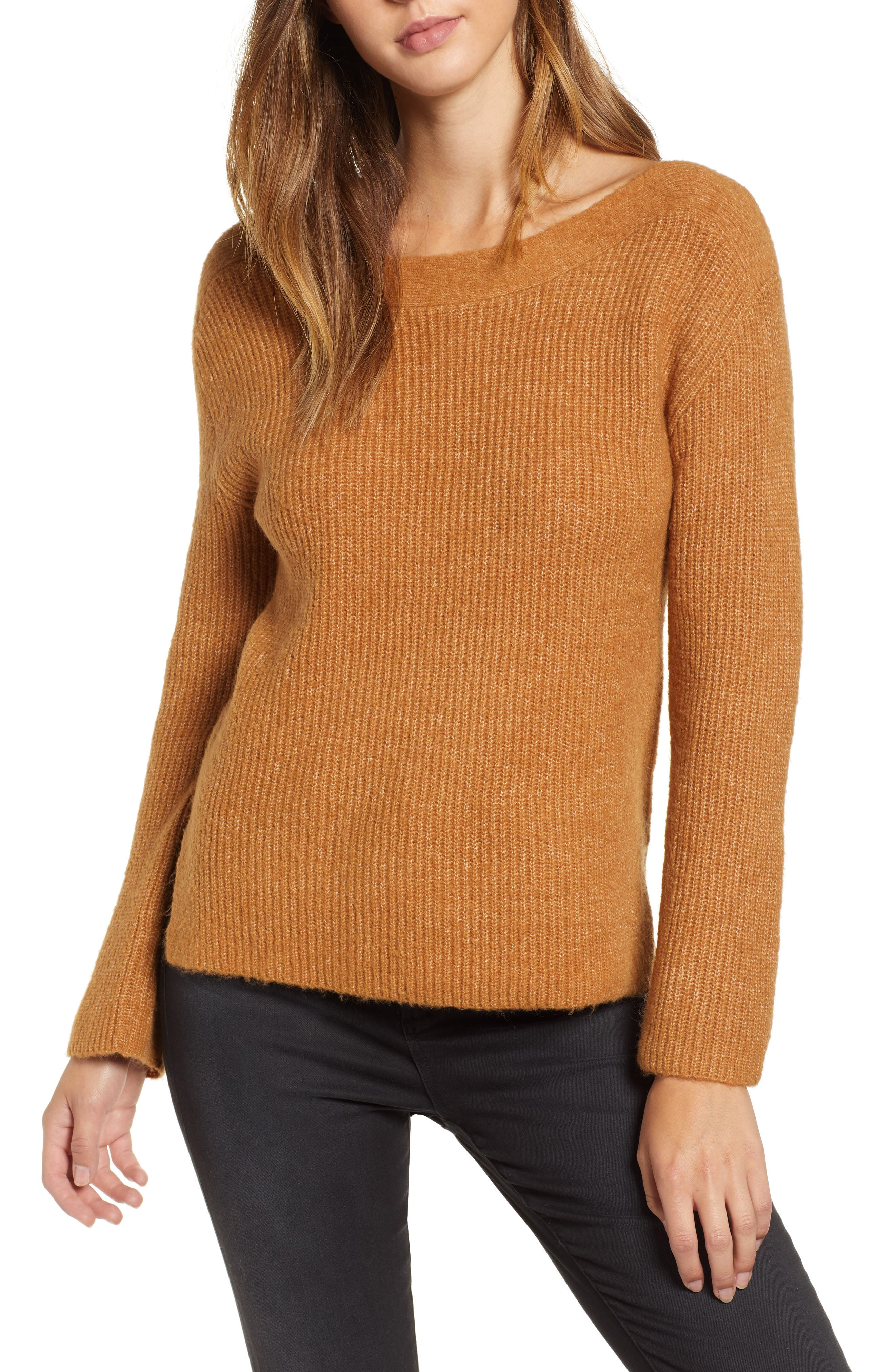 Cozy Femme Pullover Sweater,                         Main,                         color, TAN DALE