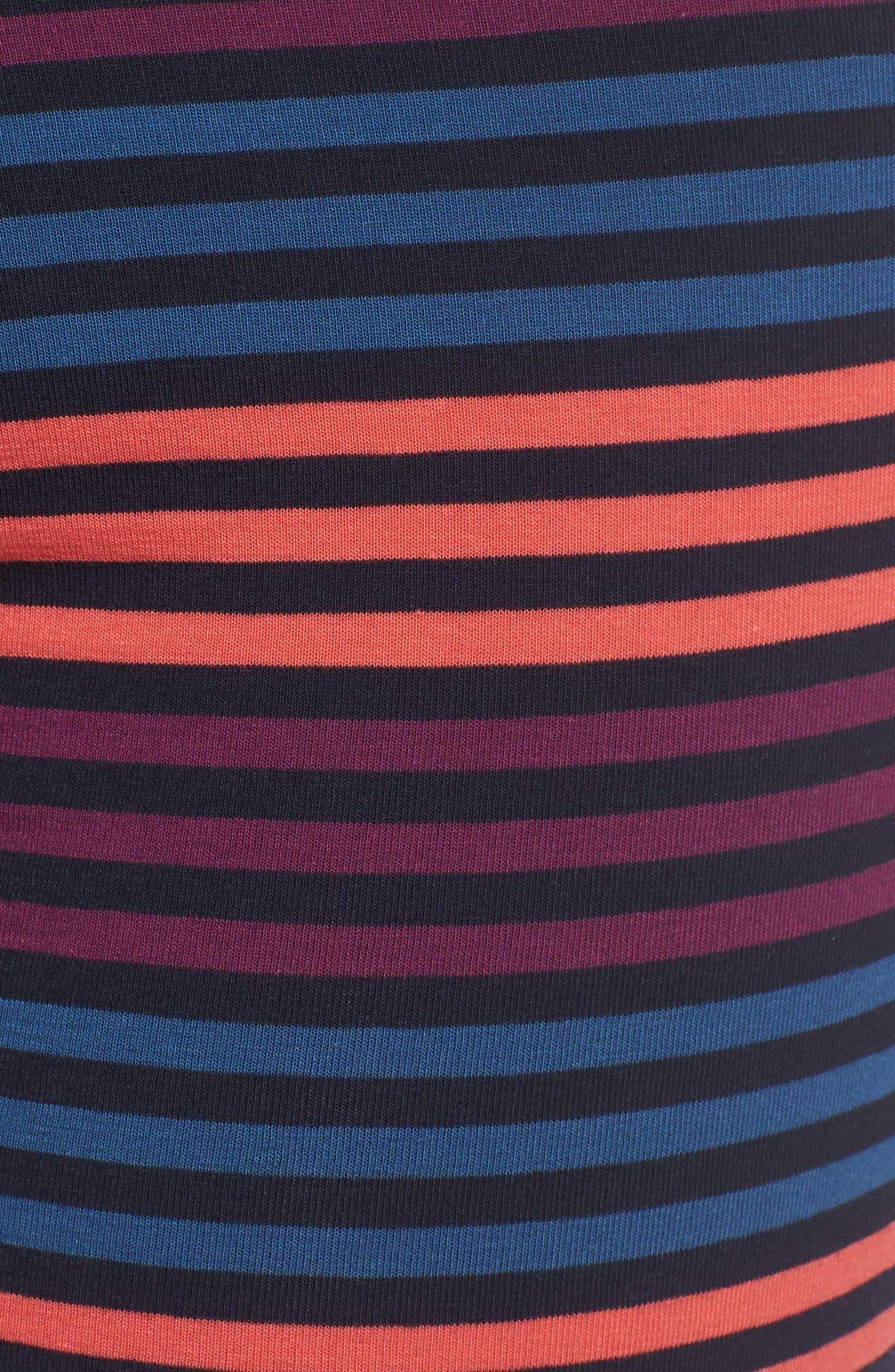 Long Leg Stretch Cotton Boxer Briefs,                             Alternate thumbnail 5, color,                             BLUE