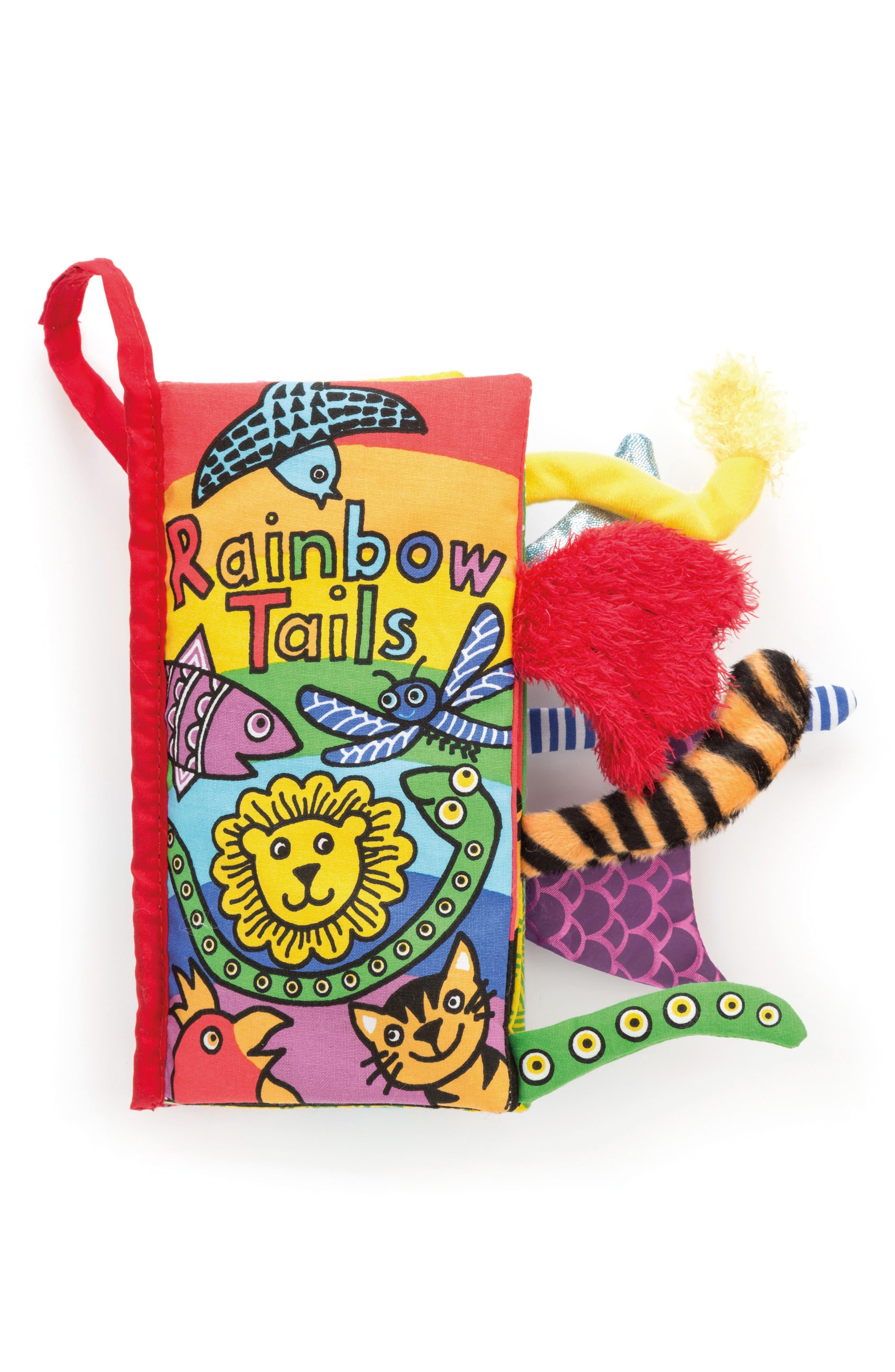 'Rainbow Tails' Soft Book,                             Main thumbnail 1, color,                             MULTI