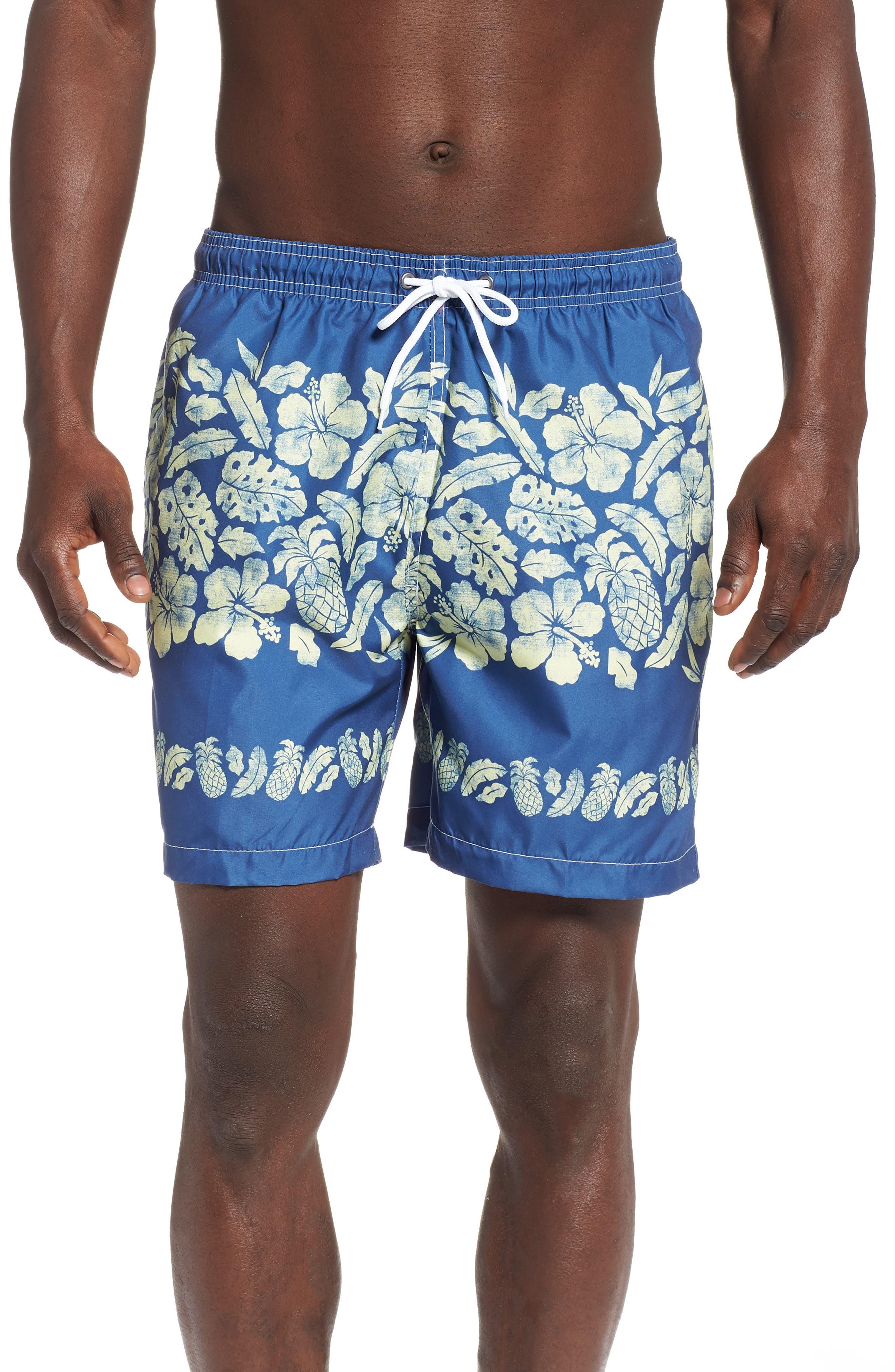 Placement Print Sano Swim Shorts,                             Main thumbnail 1, color,                             PINEAPPLE BORDER