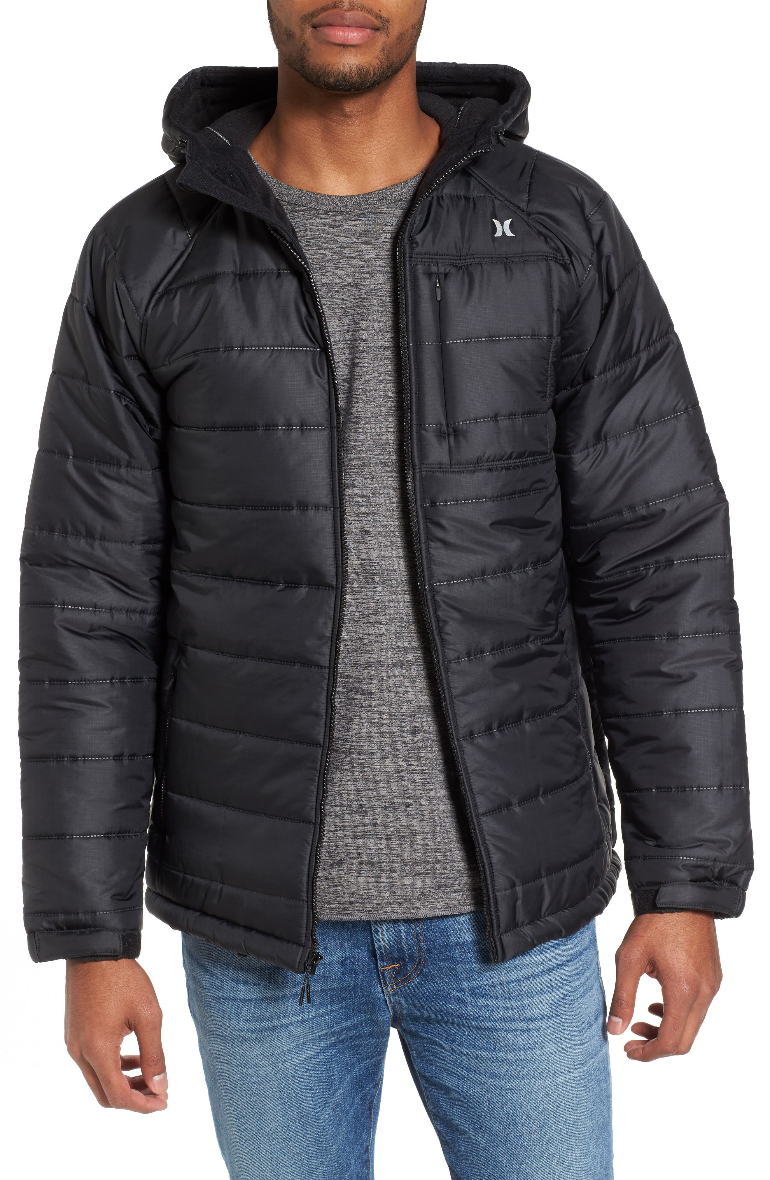 Protect Max Water-Repellent Quilted Jacket,                             Main thumbnail 1, color,                             010