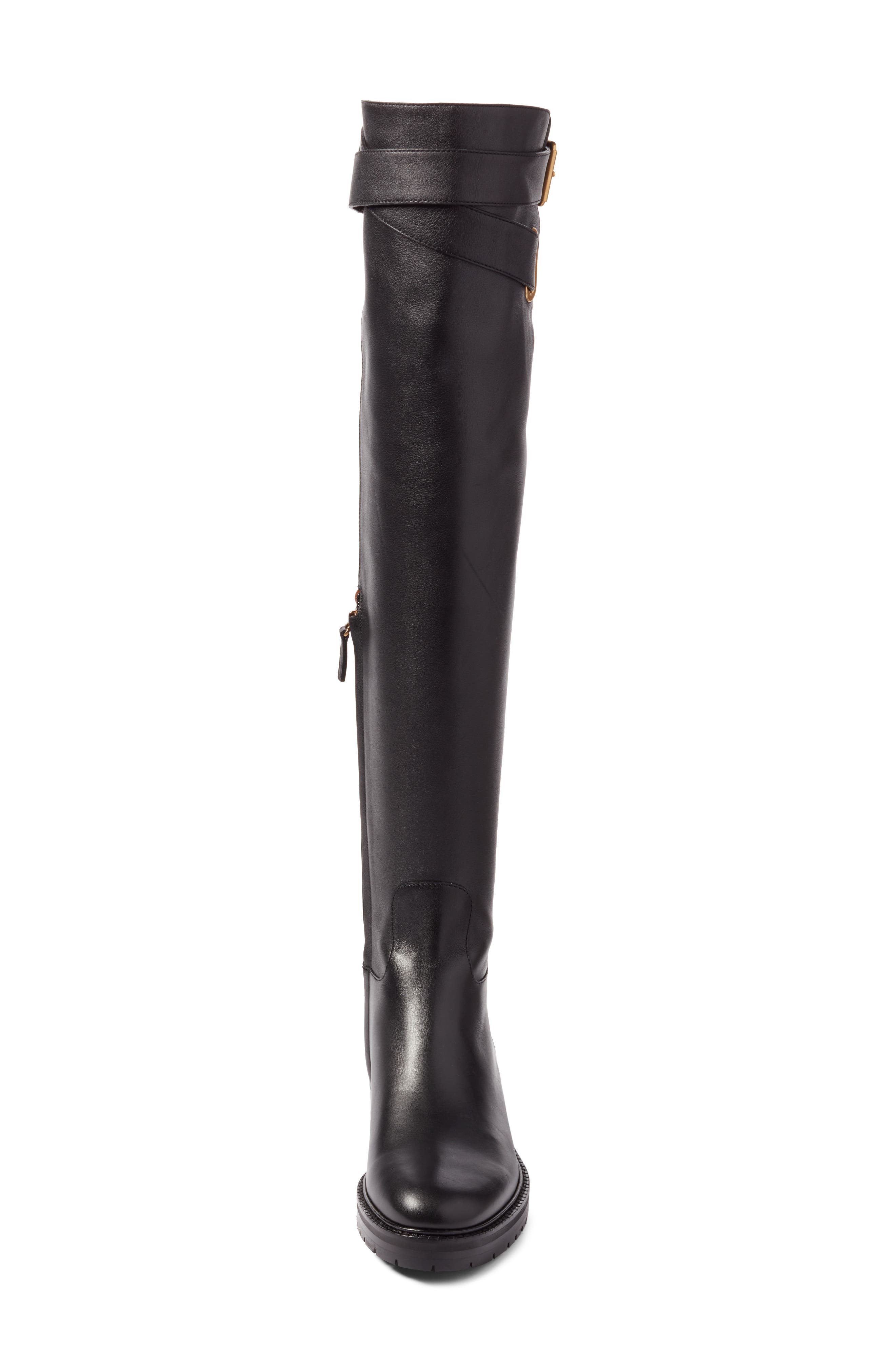 Bowrap Over the Knee Boot,                             Alternate thumbnail 4, color,                             001