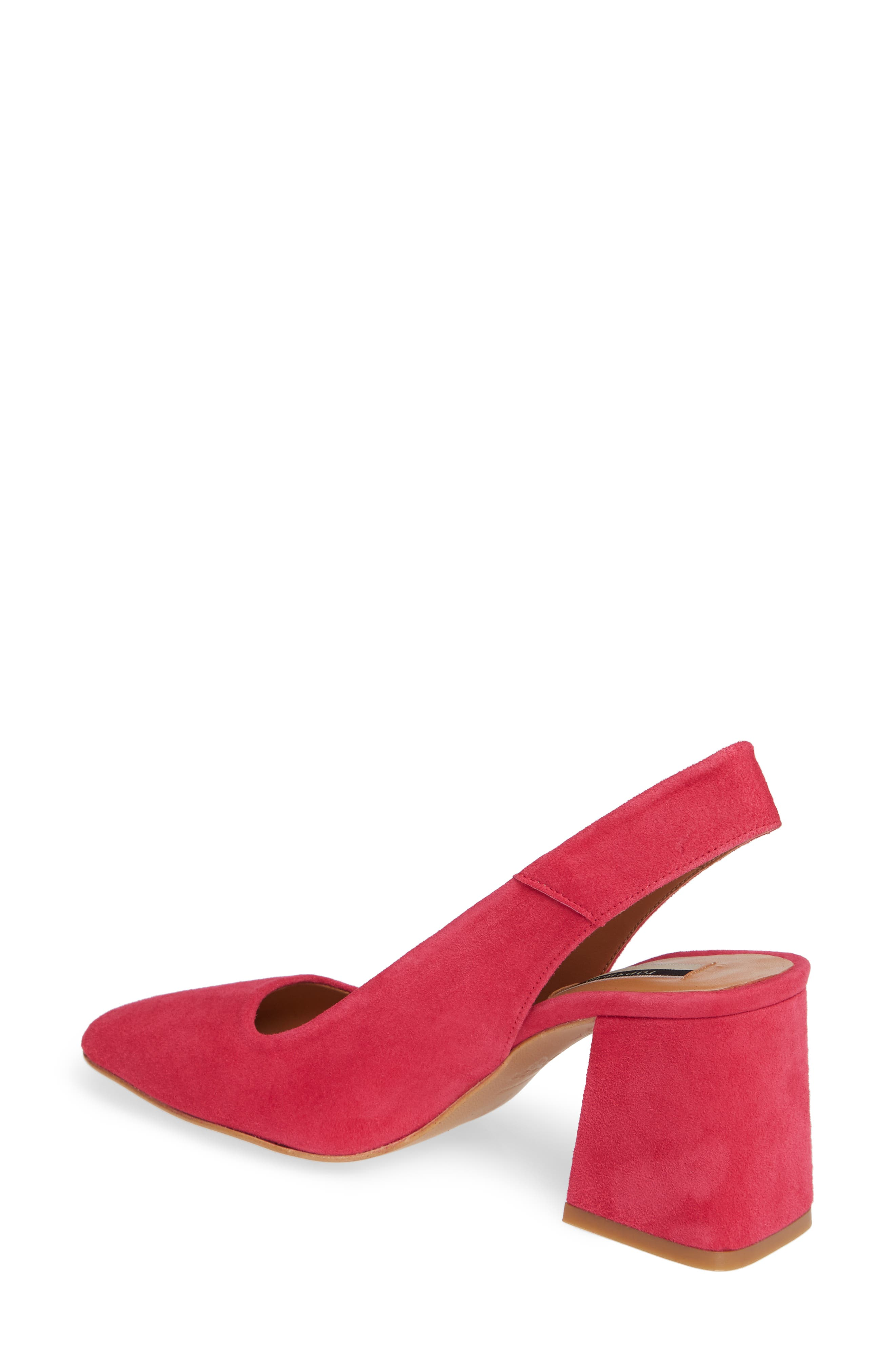 Gainor Block Heel Slingback Pump,                             Alternate thumbnail 2, color,                             PINK