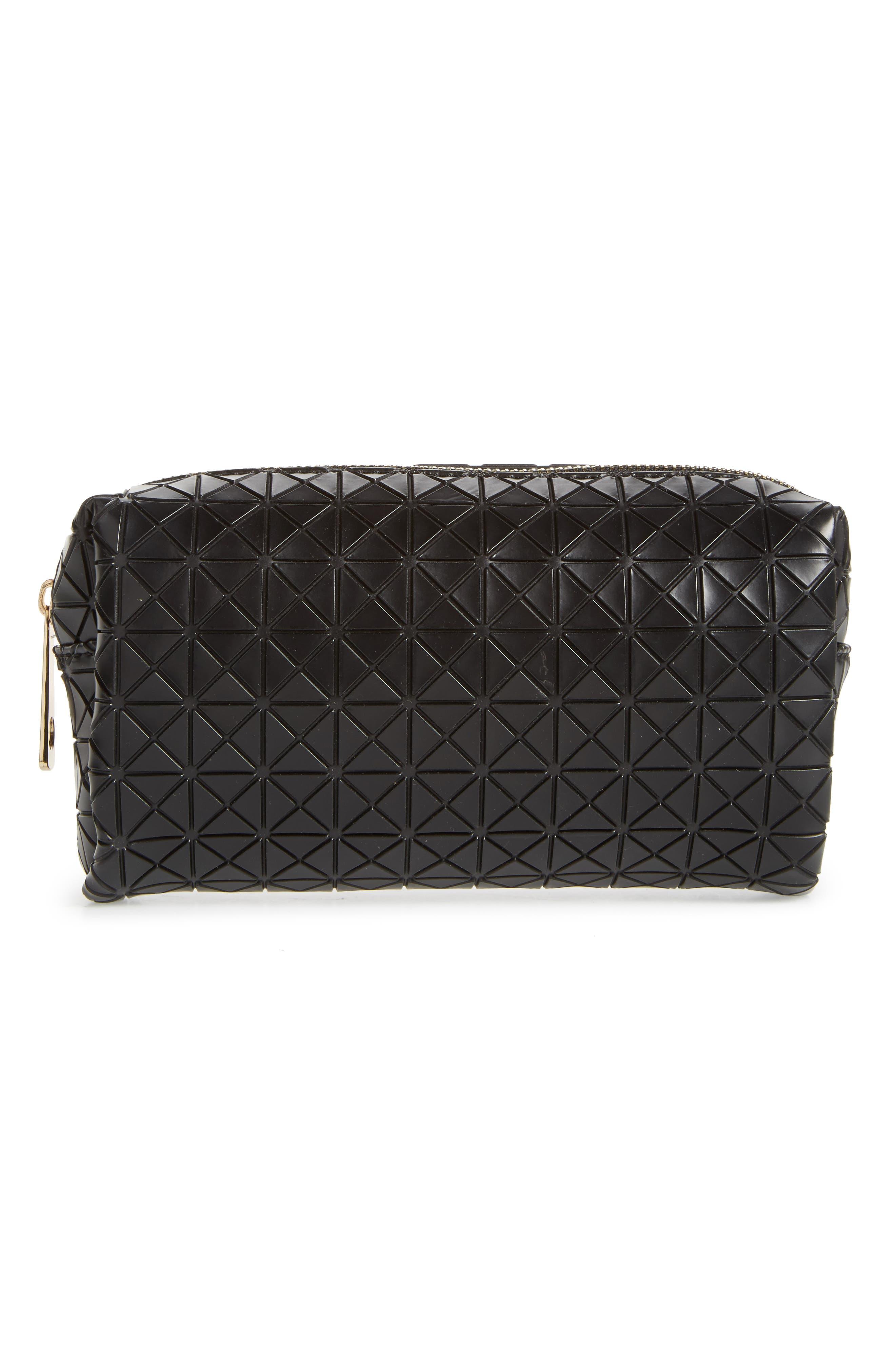 Diamond Embossed Cosmetics Bag,                             Main thumbnail 1, color,                             001