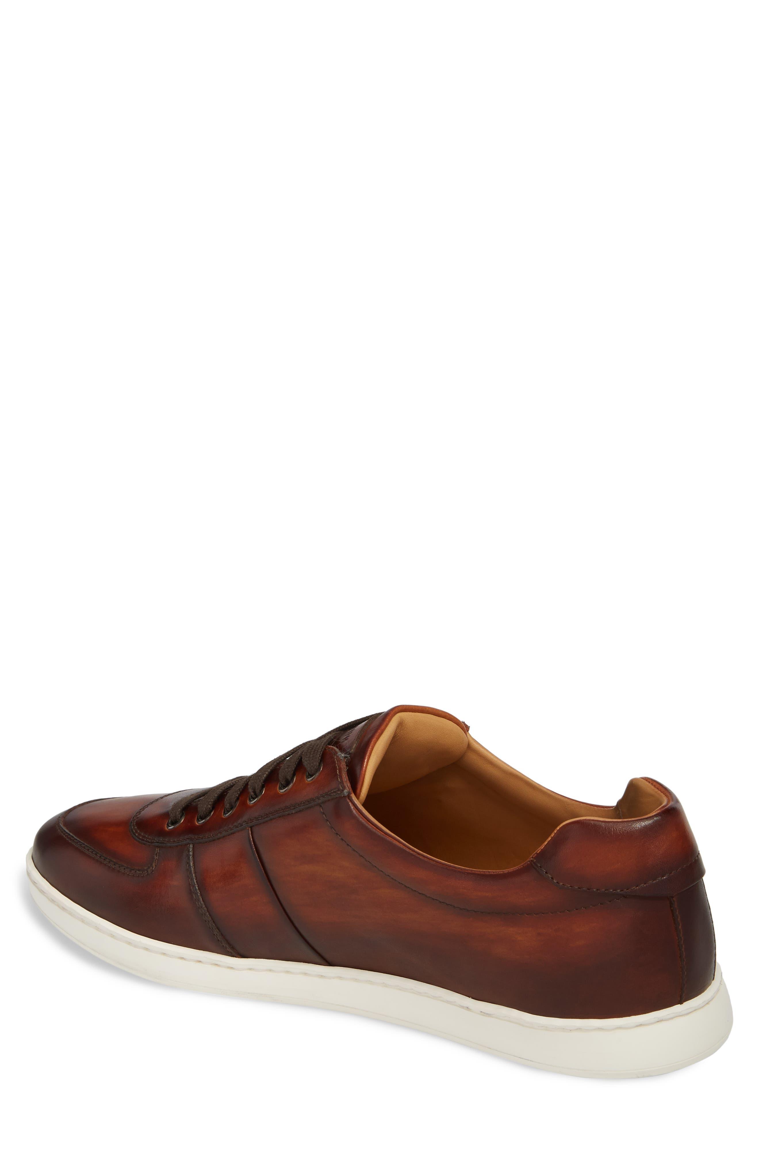Franco Low Top Sneaker,                             Alternate thumbnail 2, color,                             COGNAC LEATHER