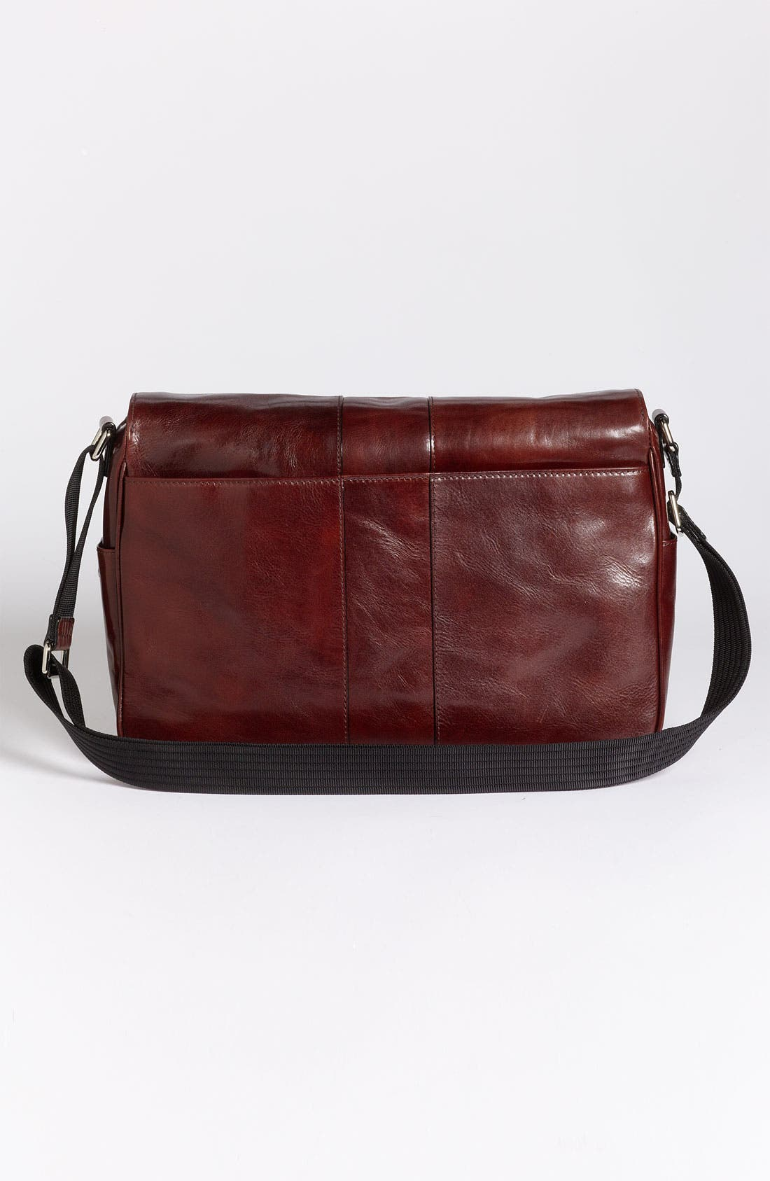 Leather Messenger Bag,                             Alternate thumbnail 3, color,                             200