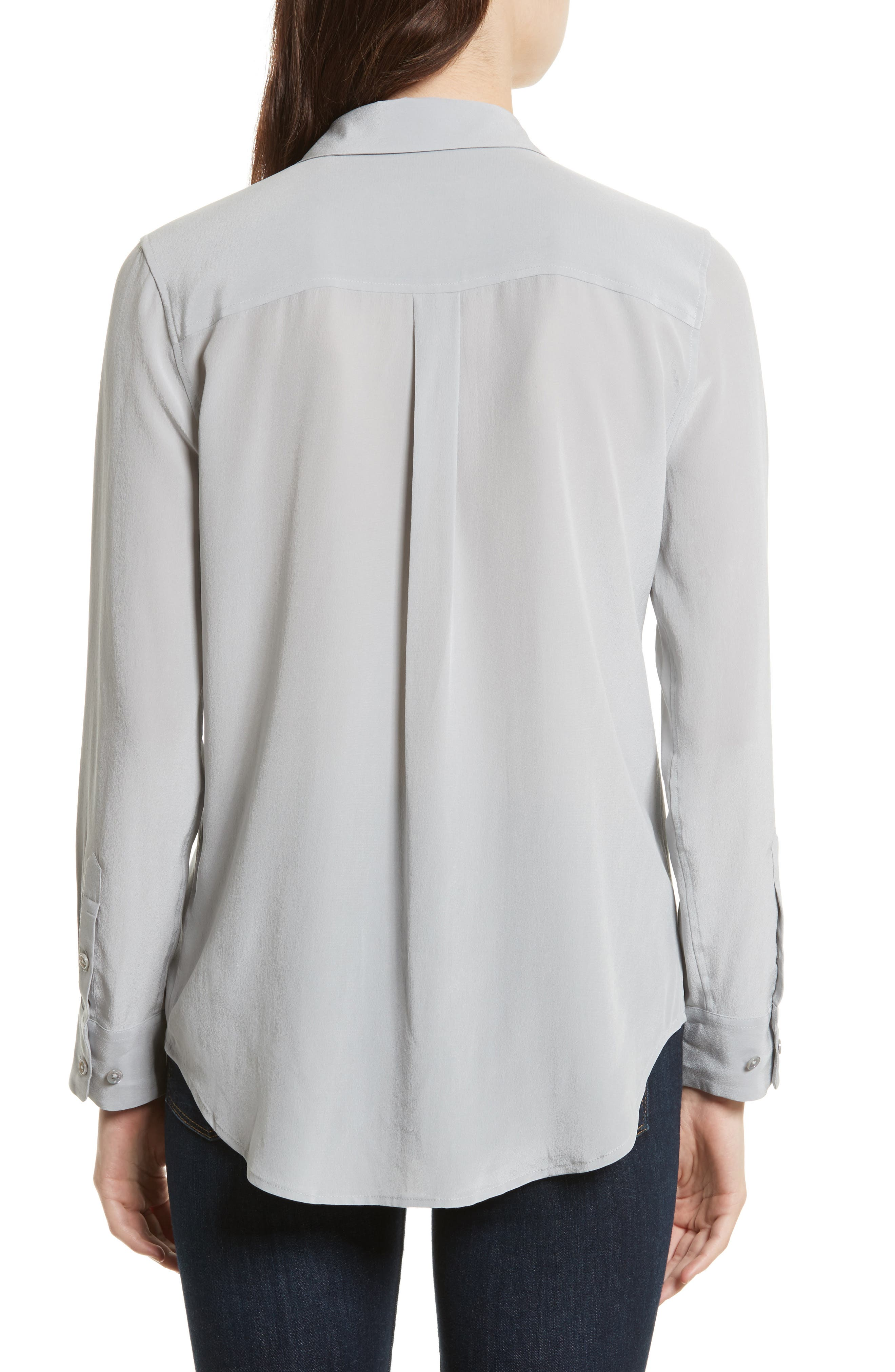 'Slim Signature' Silk Shirt,                             Alternate thumbnail 2, color,                             056