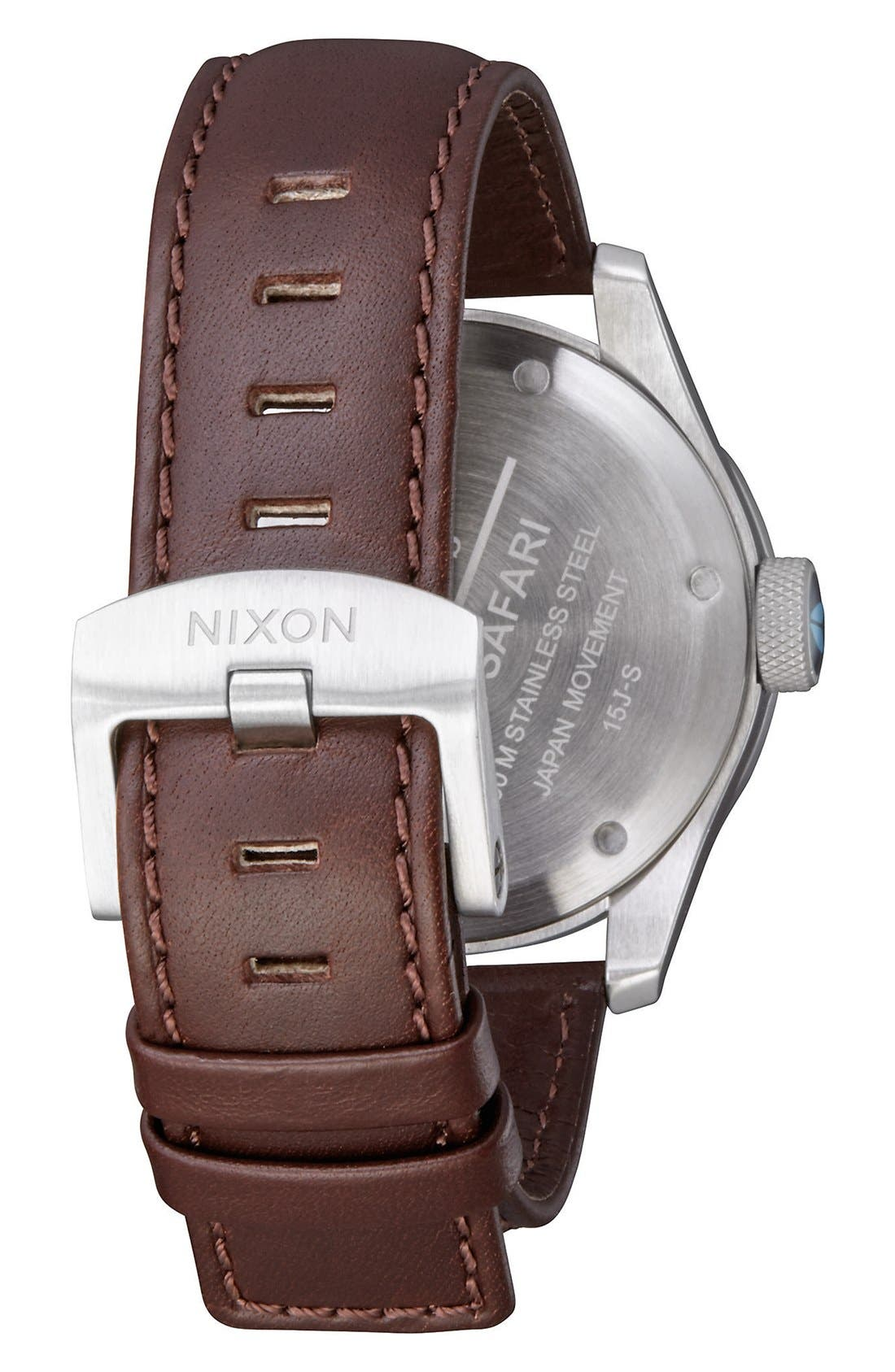 'Safari' Leather Strap Watch, 43mm,                             Alternate thumbnail 17, color,