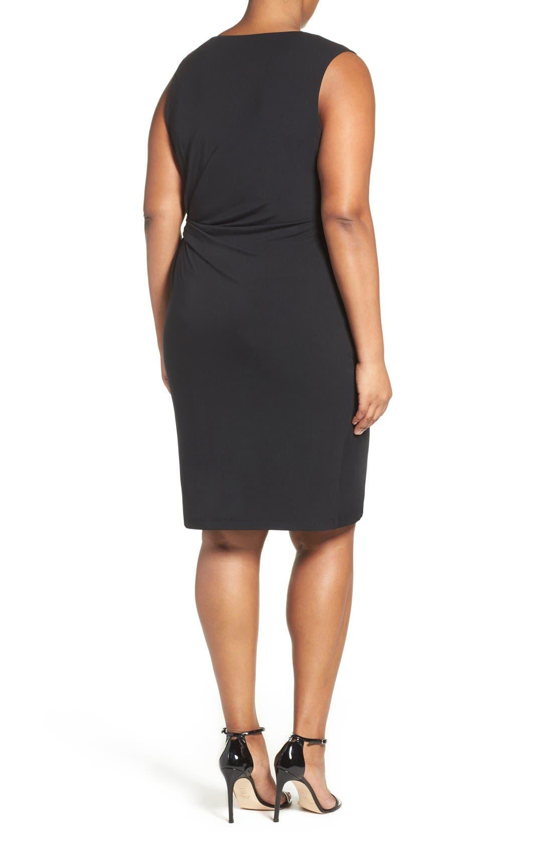 Margaux Twist Front Sheath Dress,                             Alternate thumbnail 2, color,                             001