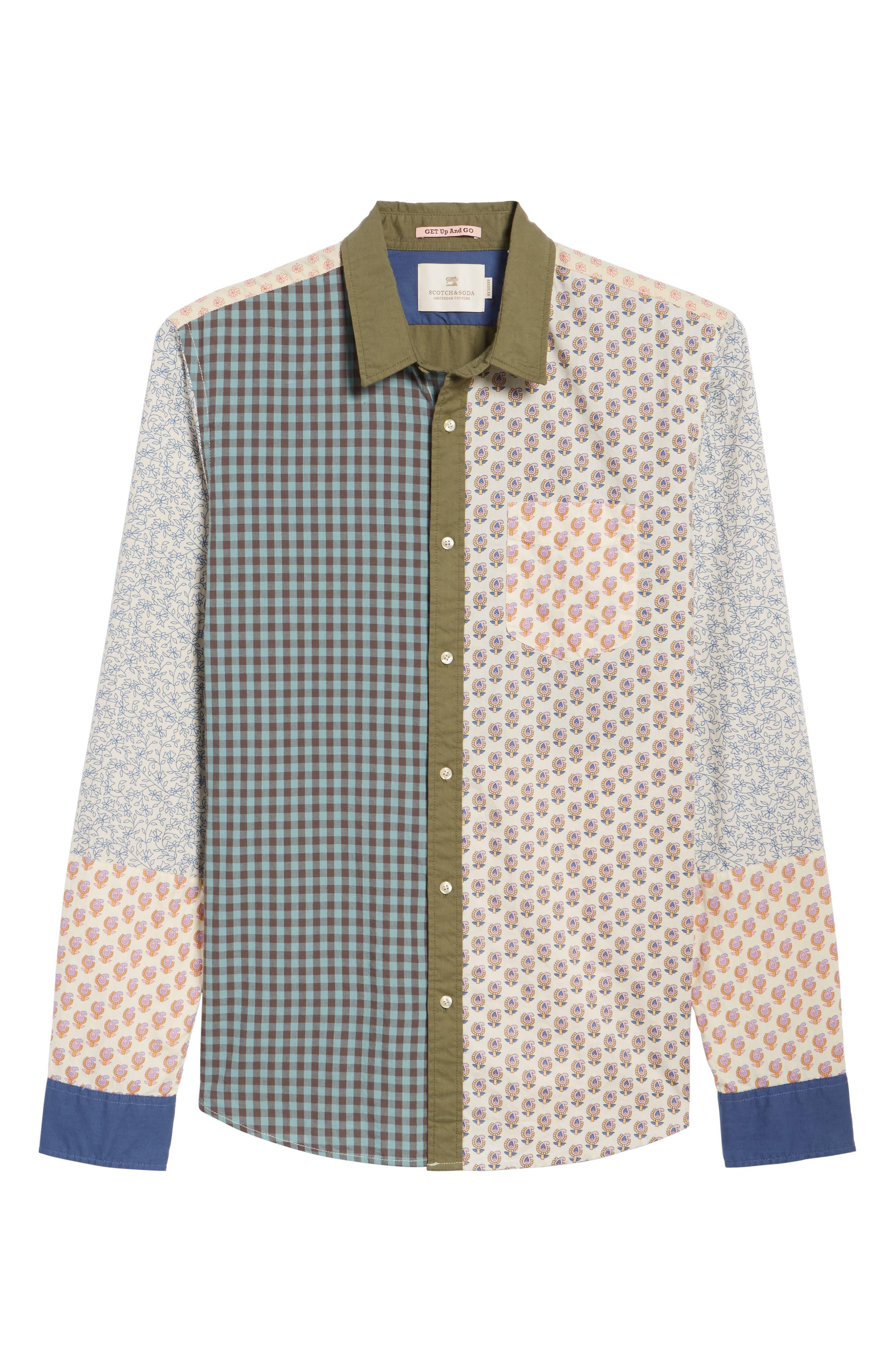 Mix & Match Sport Shirt,                             Alternate thumbnail 6, color,                             100