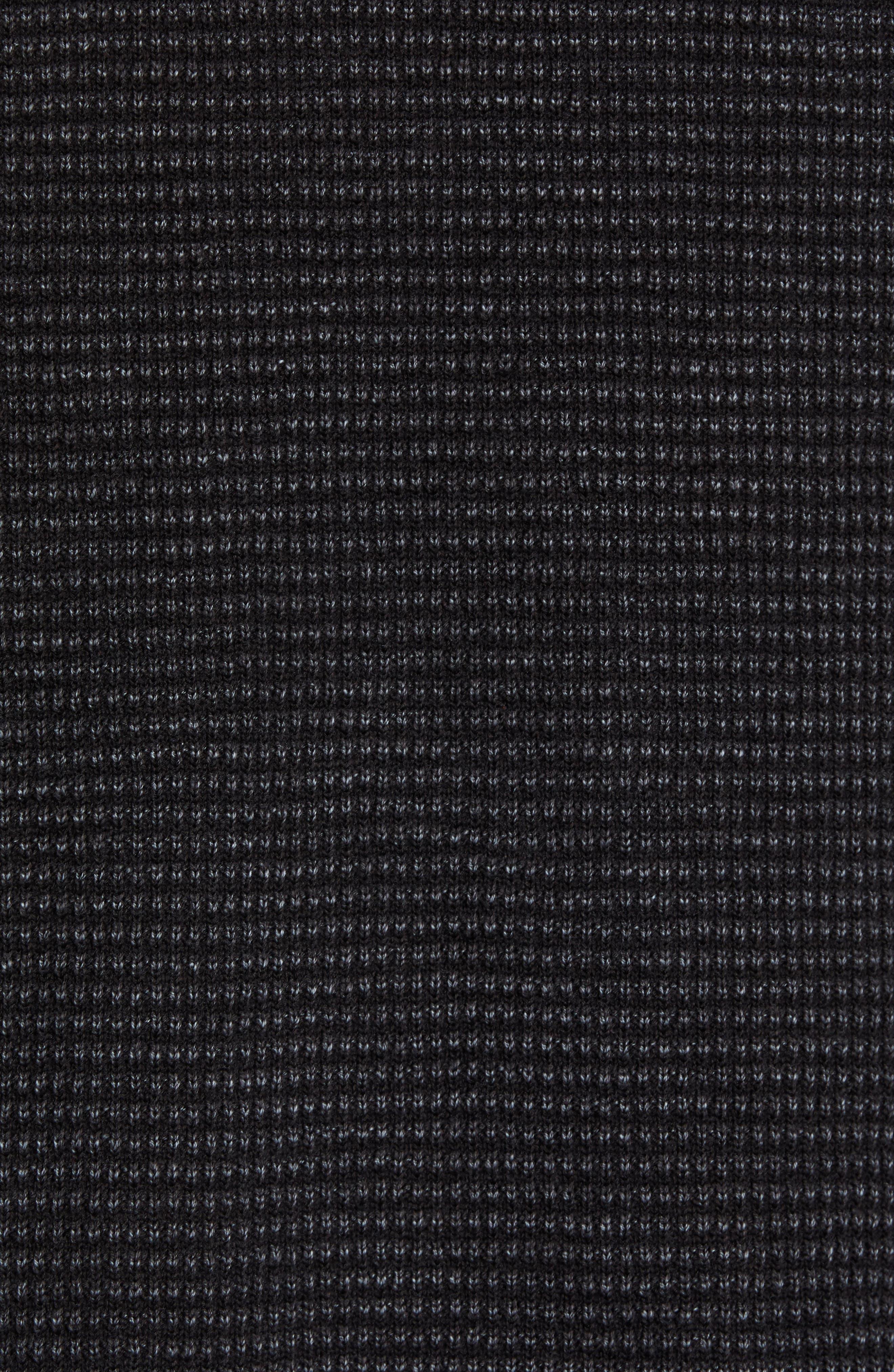 Island Tide Half Zip Pullover,                             Alternate thumbnail 5, color,                             BLACK