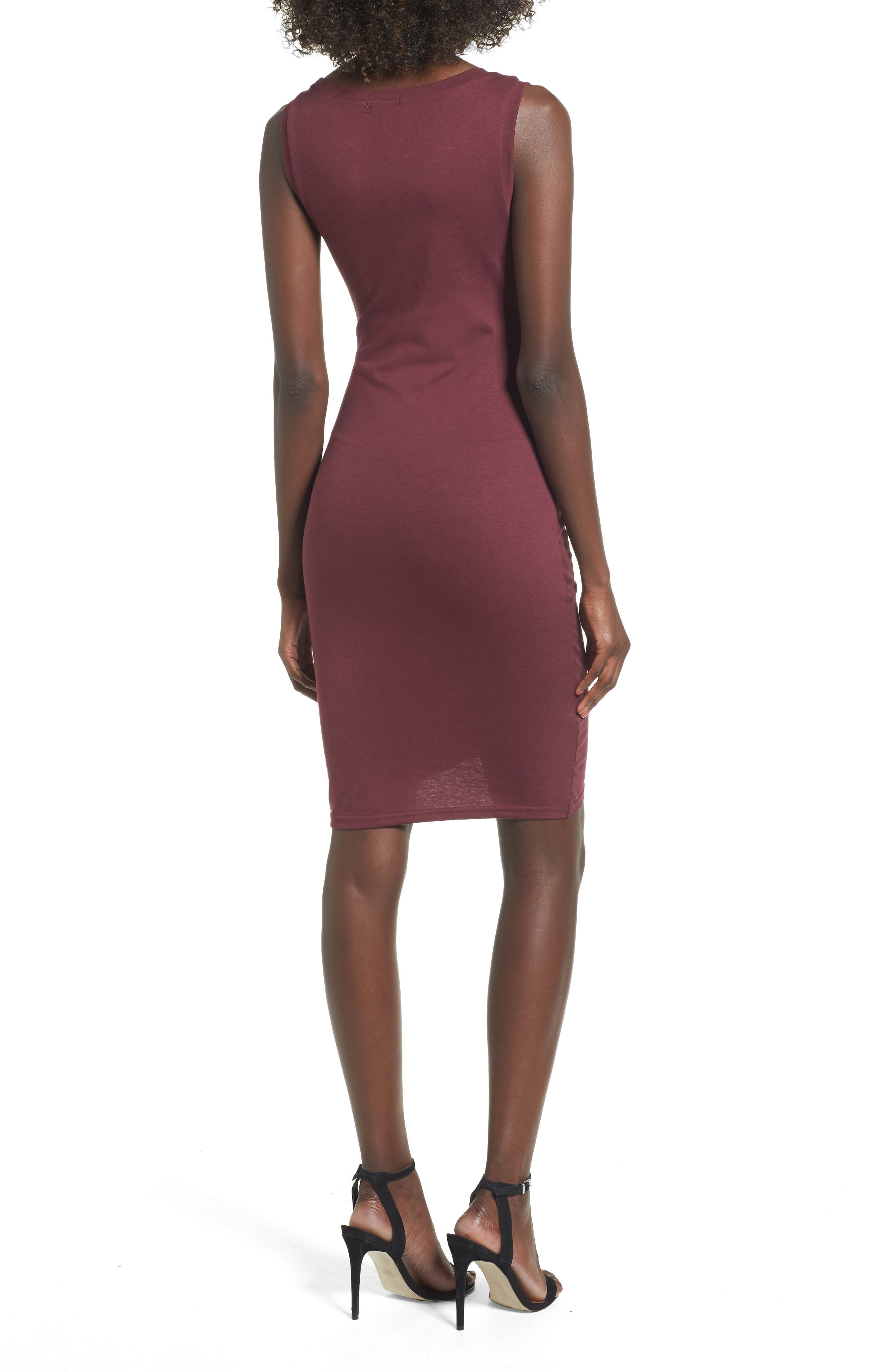 Ruched Body-Con Tank Dress,                             Alternate thumbnail 48, color,