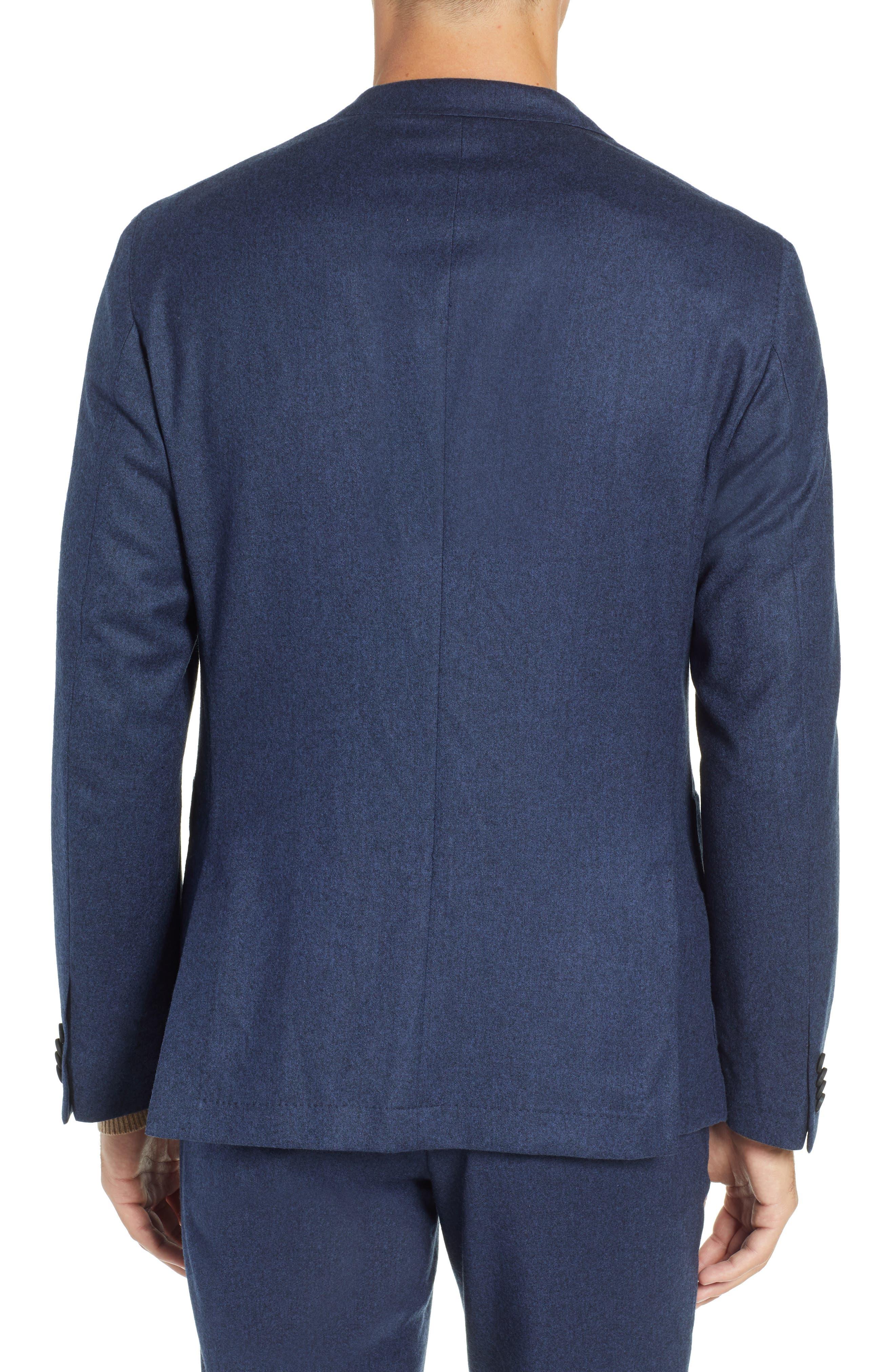 Hooper Trim Fit Wool Blazer,                             Alternate thumbnail 2, color,                             DARK BLUE
