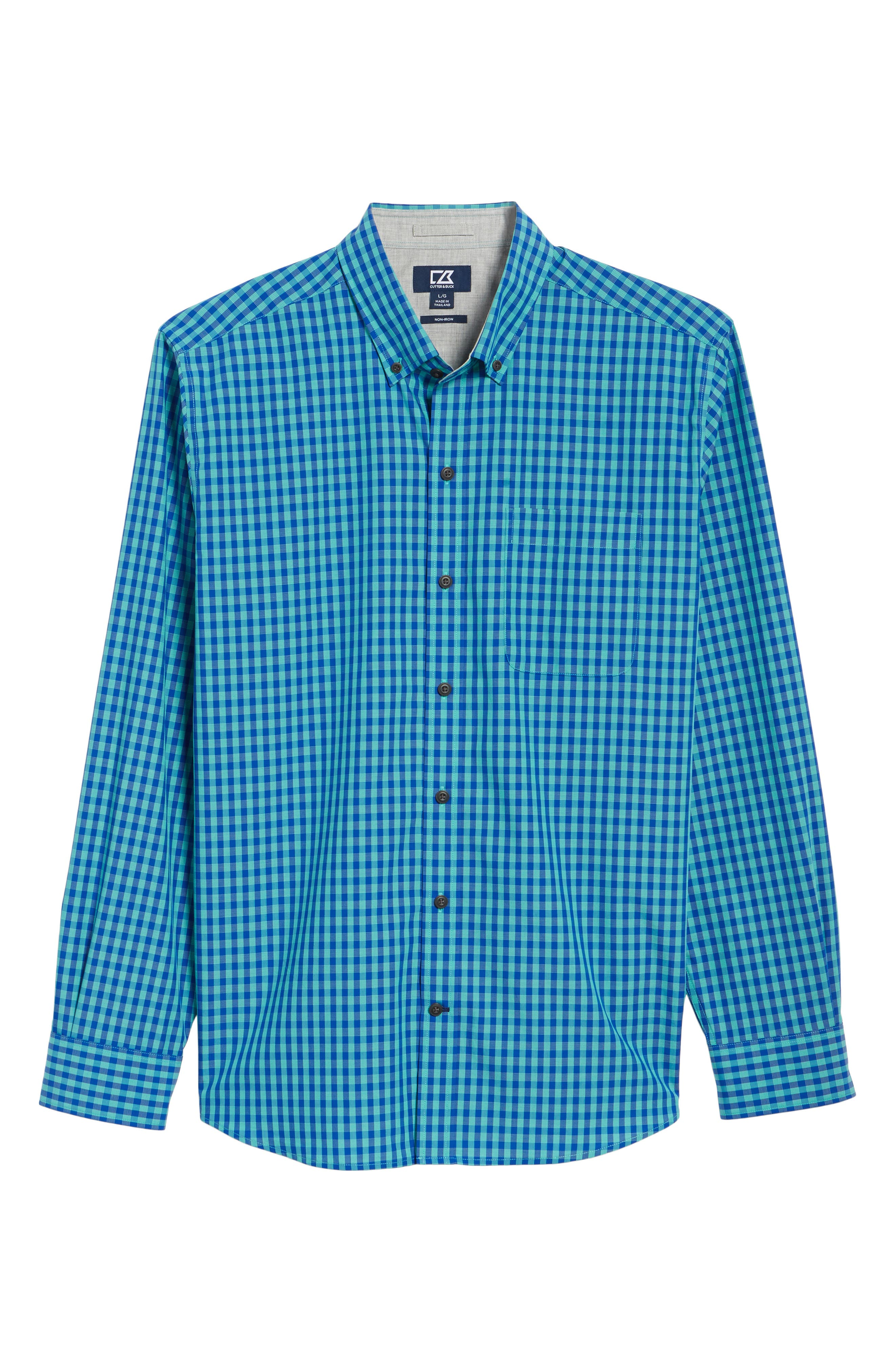 Myles Classic Fit Non-Iron Gingham Sport Shirt,                             Alternate thumbnail 6, color,                             NEWPORT