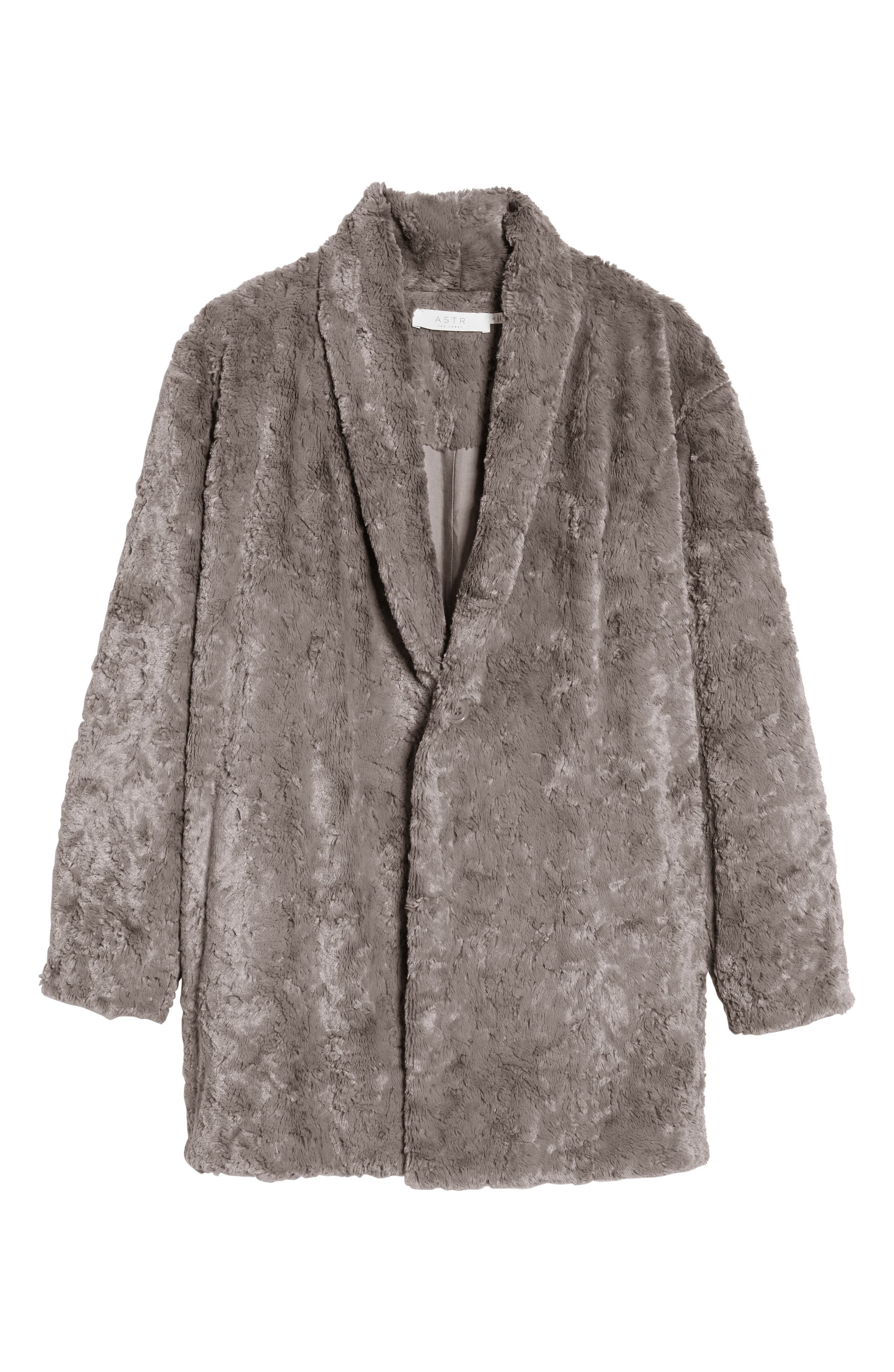 Skylar Faux Fur Jacket,                             Alternate thumbnail 6, color,                             021