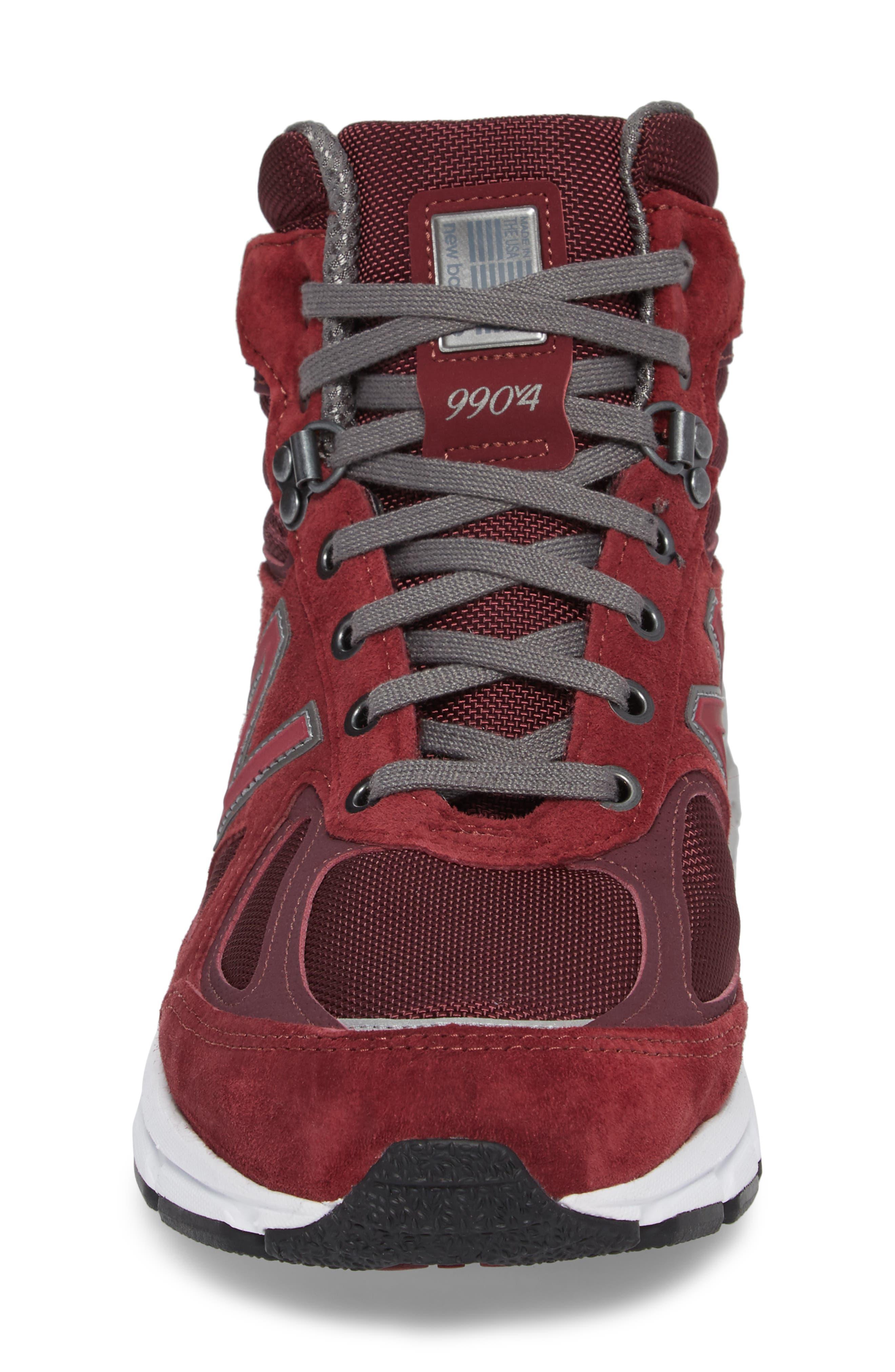 990v4 Water Resistant Sneaker Boot,                             Alternate thumbnail 4, color,                             932