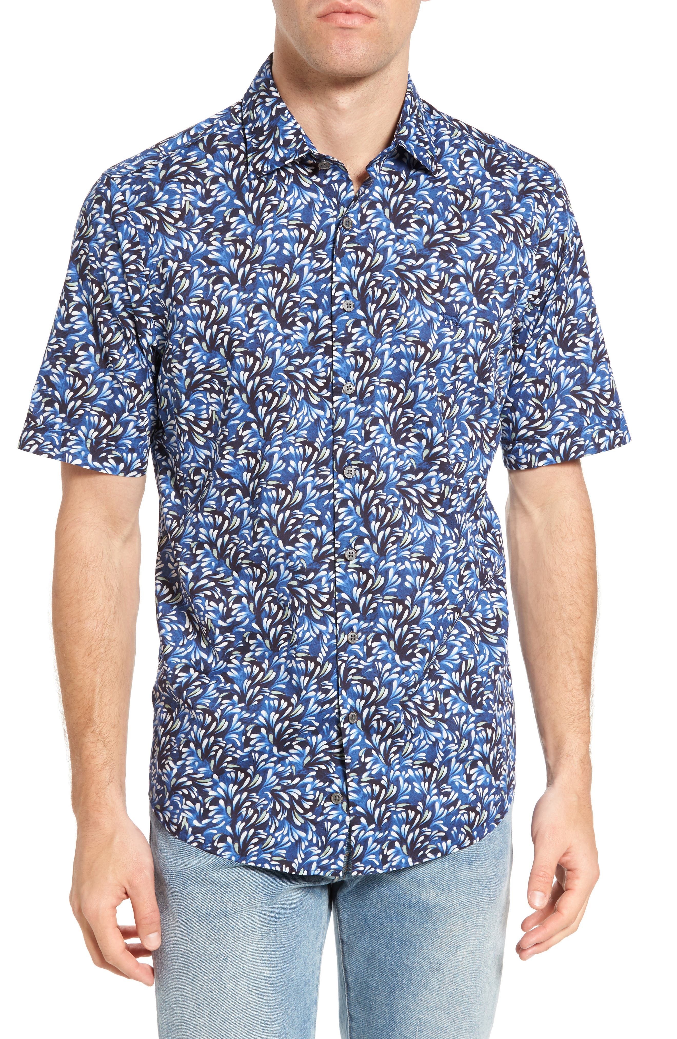 Sunset Road Original Fit Print Sport Shirt,                         Main,                         color,