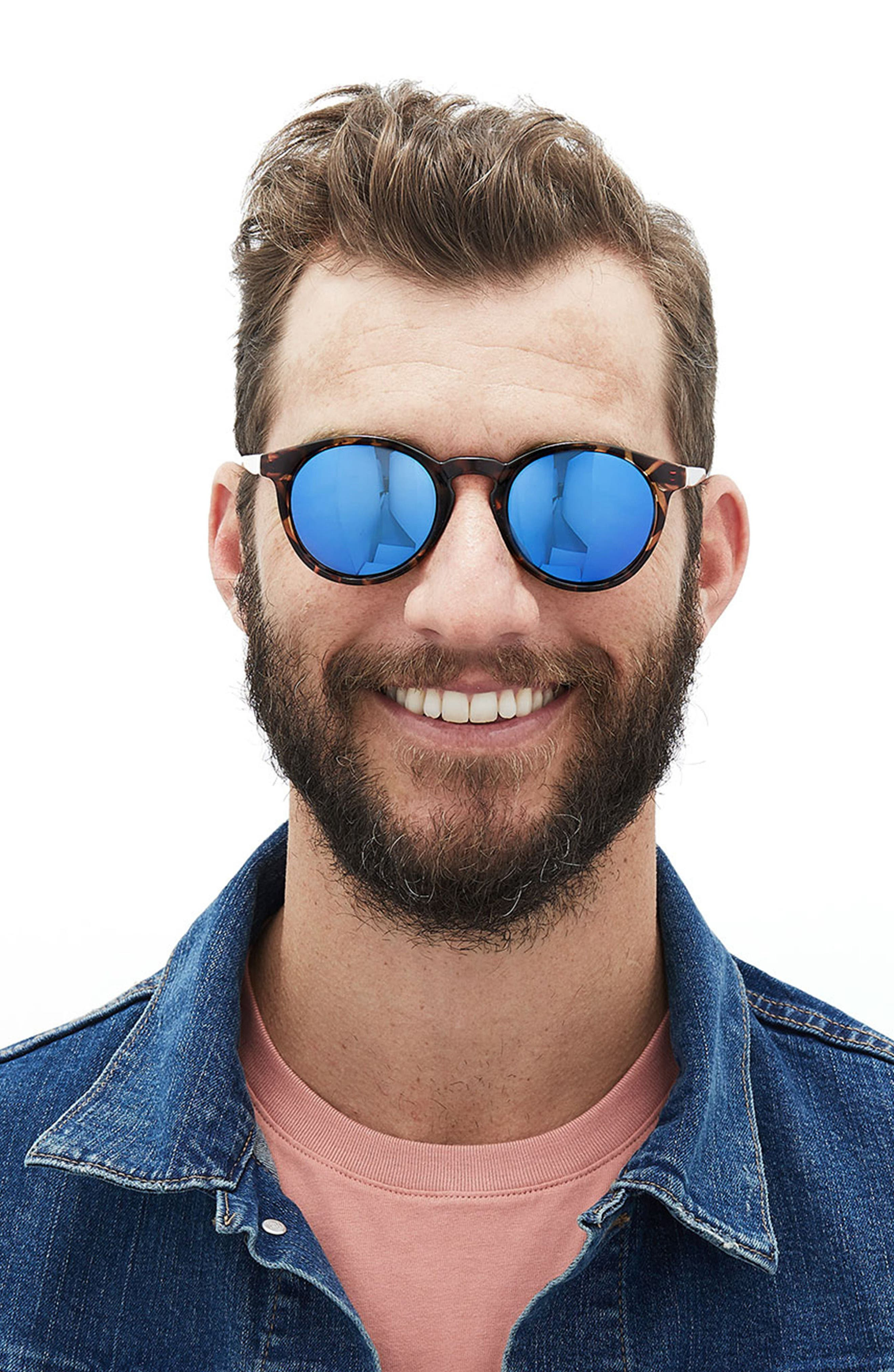 Dipsea 48mm Polarized Sunglasses,                             Alternate thumbnail 4, color,                             TORTOISE EMERALD