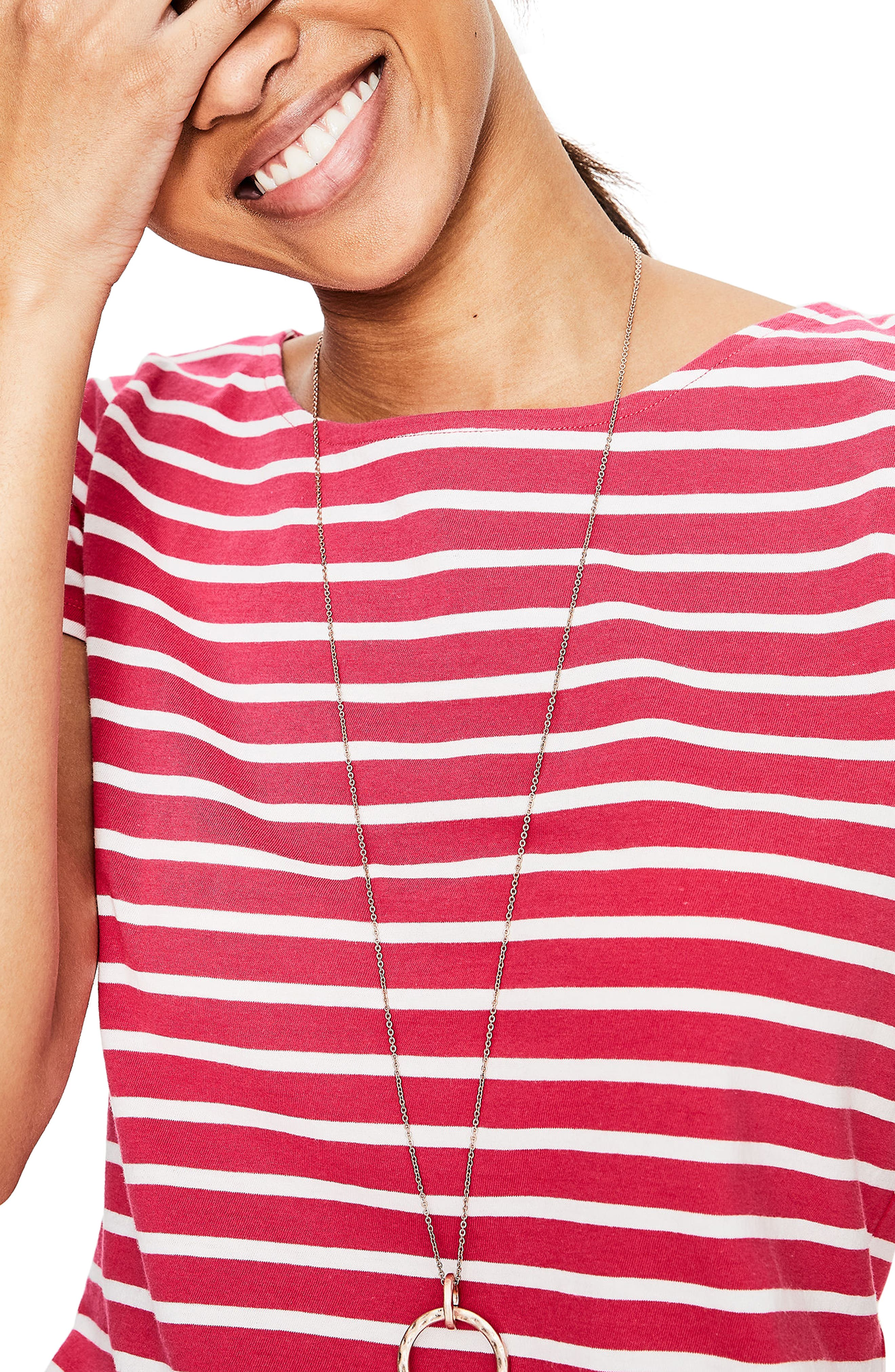 Breton Short Sleeve Stripe Cotton Top,                             Alternate thumbnail 8, color,