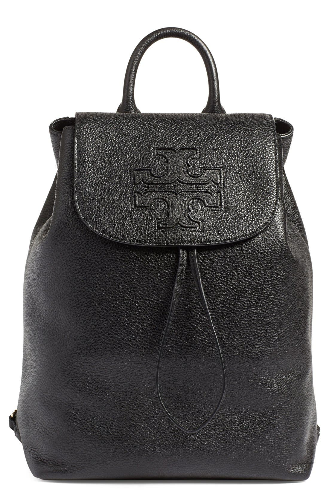 TORY BURCH,                             'Harper' Leather Backpack,                             Main thumbnail 1, color,                             012