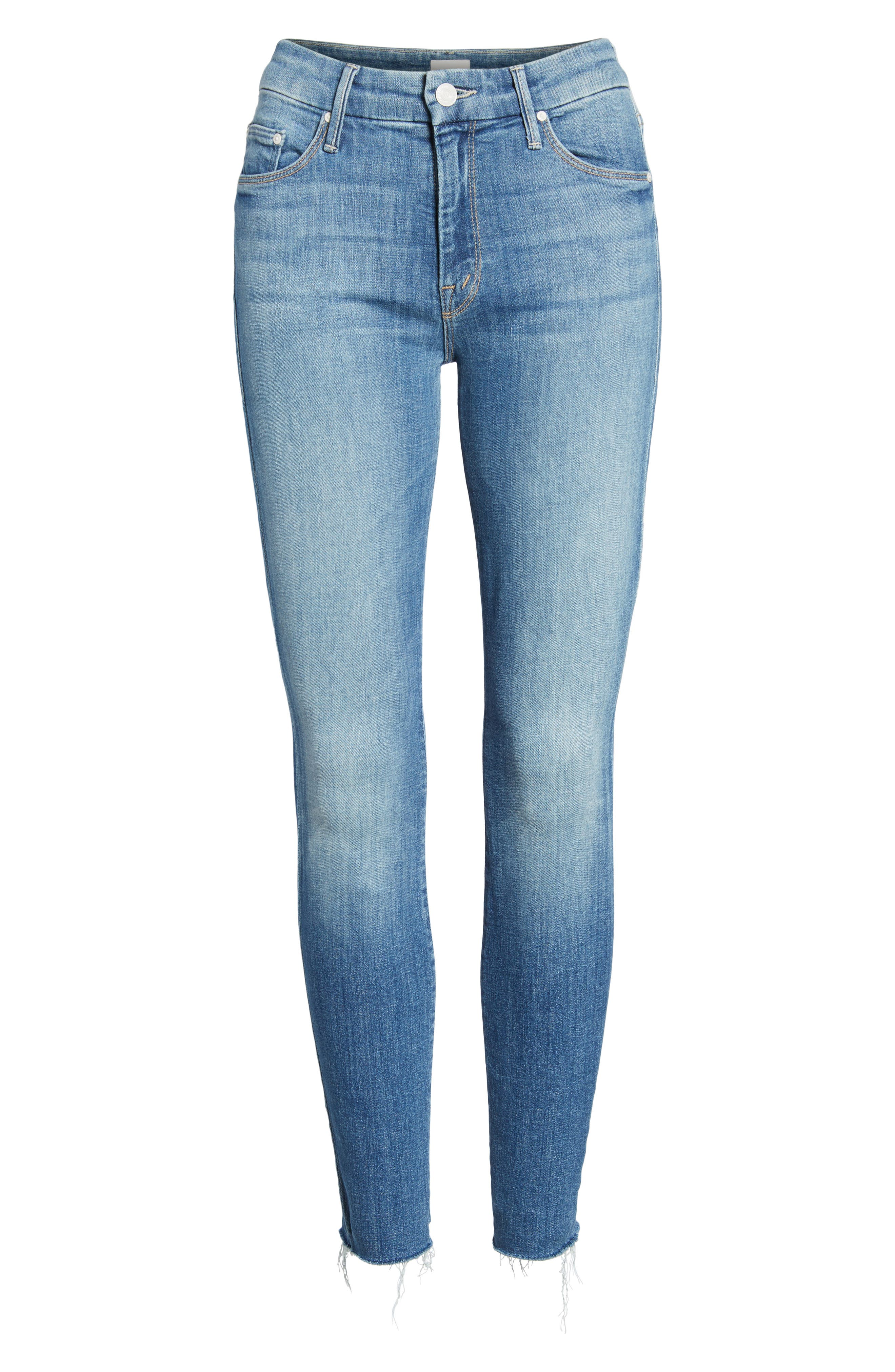 The Looker Fray Ankle Skinny Jeans,                             Alternate thumbnail 7, color,                             404