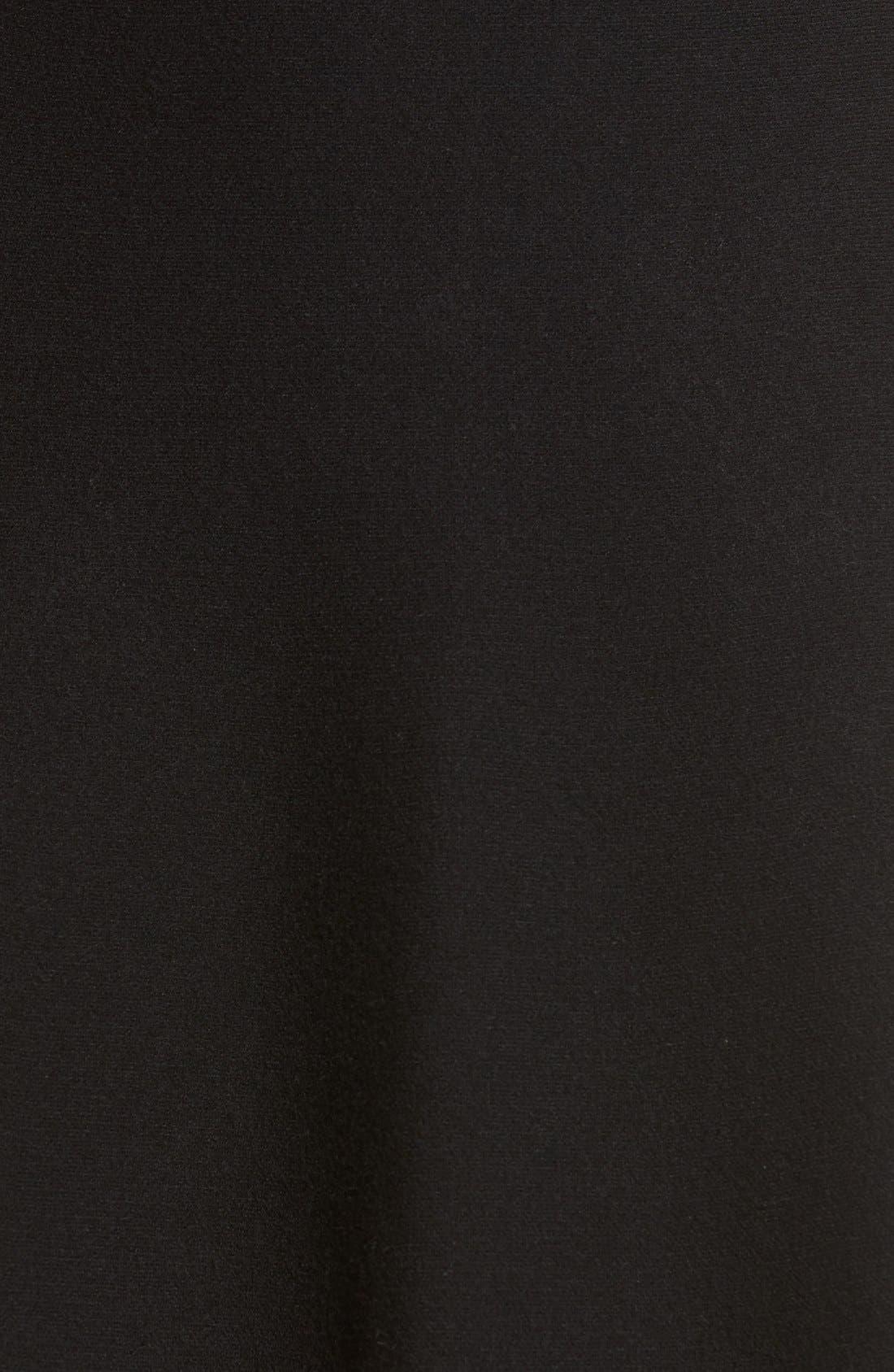 Knit Skater Skirt,                             Alternate thumbnail 5, color,                             001