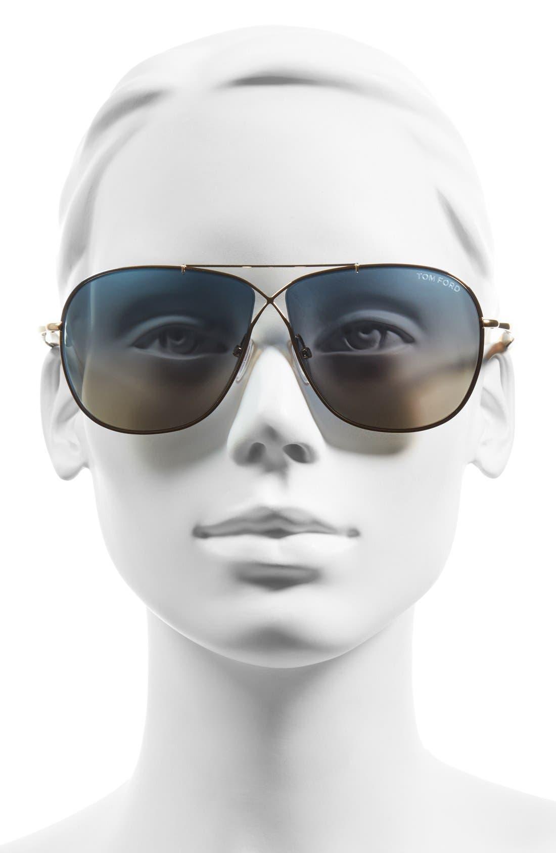'April' 61mm Retro Sunglasses,                             Alternate thumbnail 8, color,