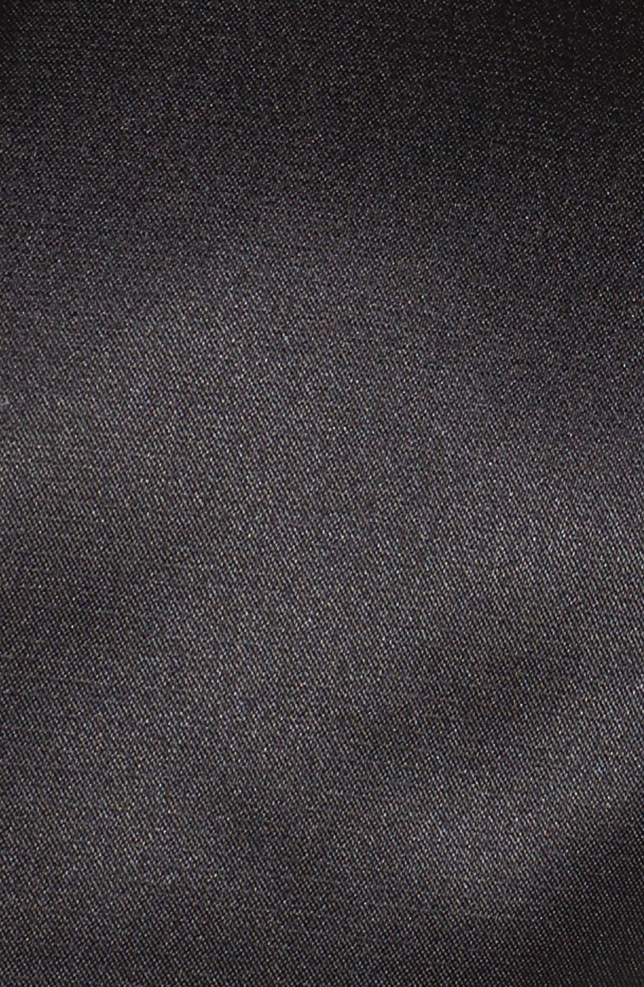 Satin Bolero,                             Alternate thumbnail 6, color,                             BLACK