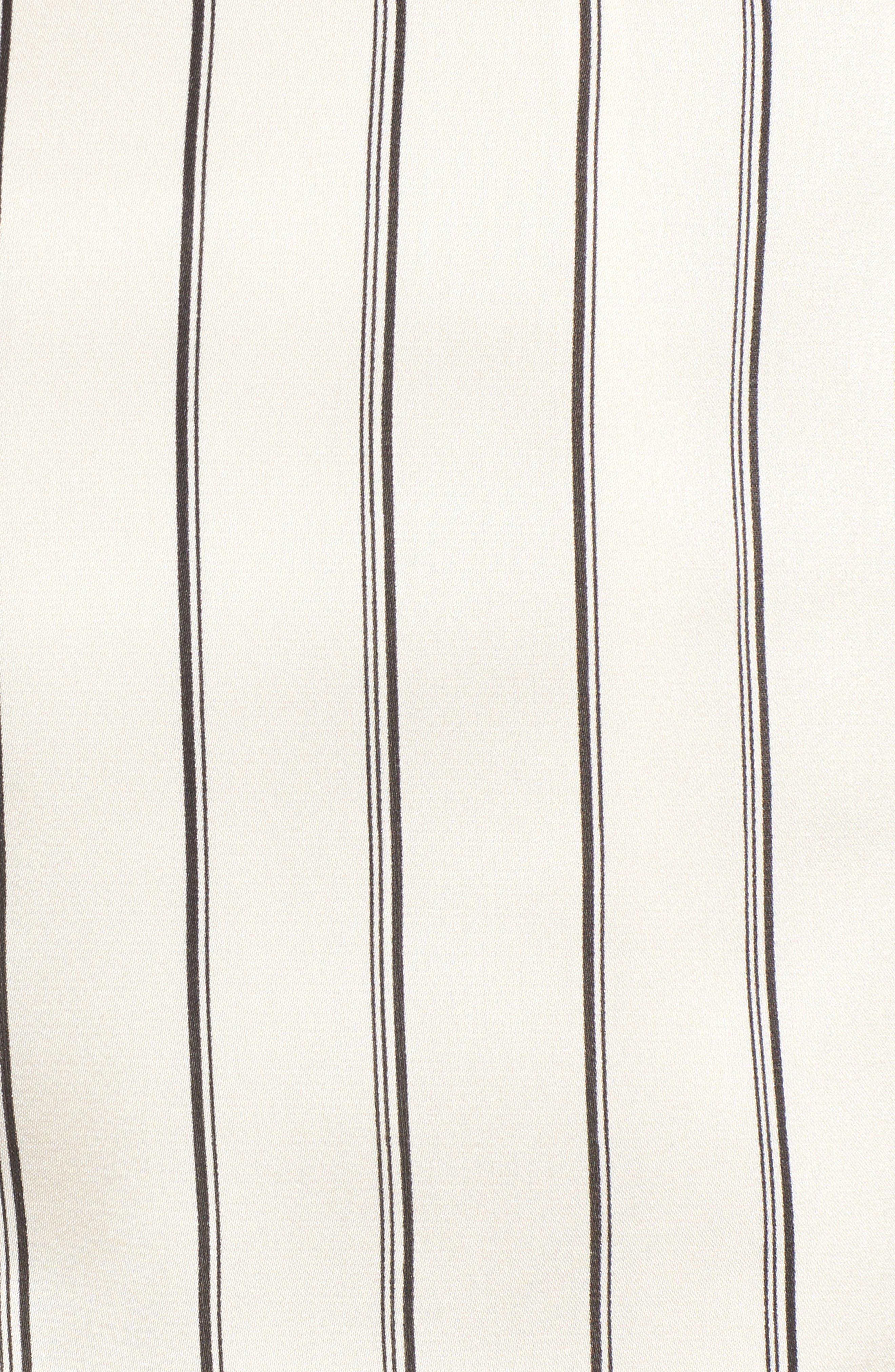 Ruffle Pinstripe Skirt,                             Alternate thumbnail 5, color,                             902