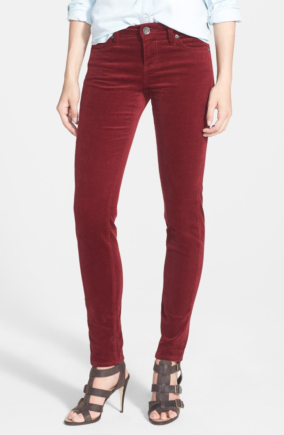 'Diana' Stretch Corduroy Skinny Pants,                             Main thumbnail 43, color,