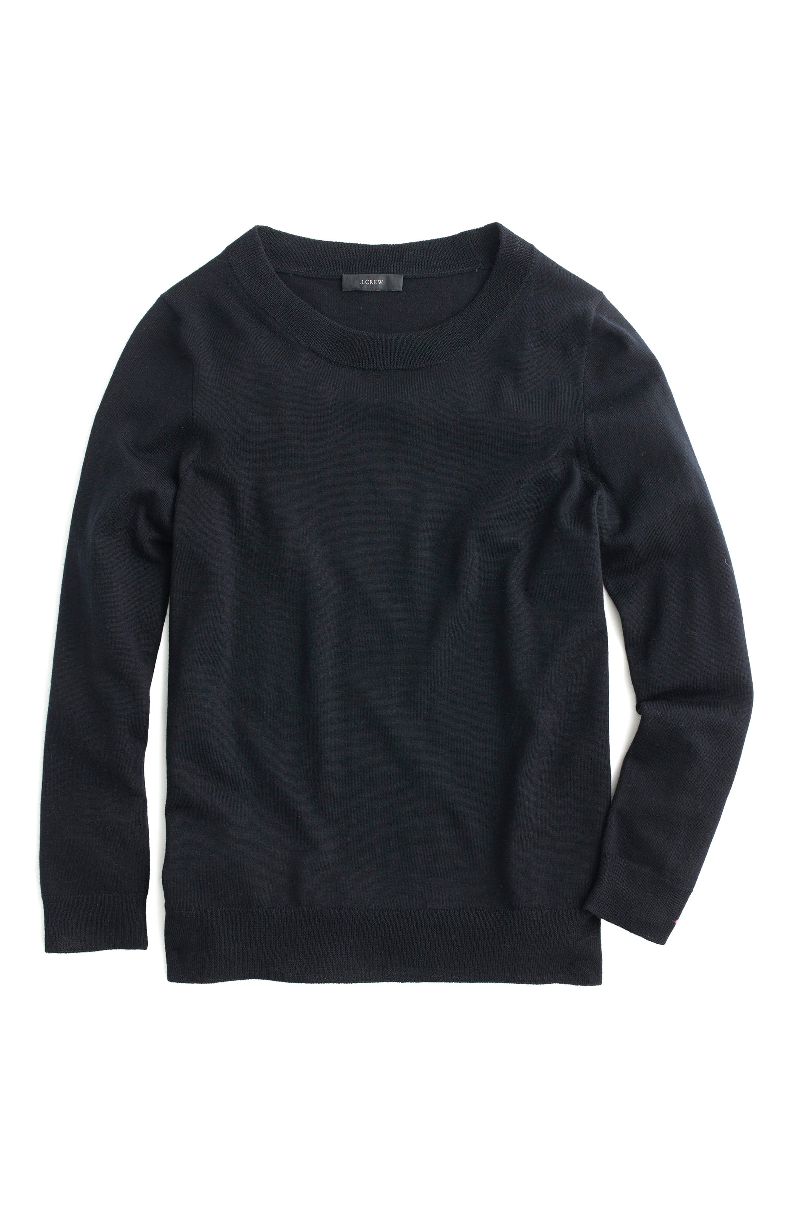 Tippi Merino Wool Sweater,                             Main thumbnail 1, color,                             BLACK