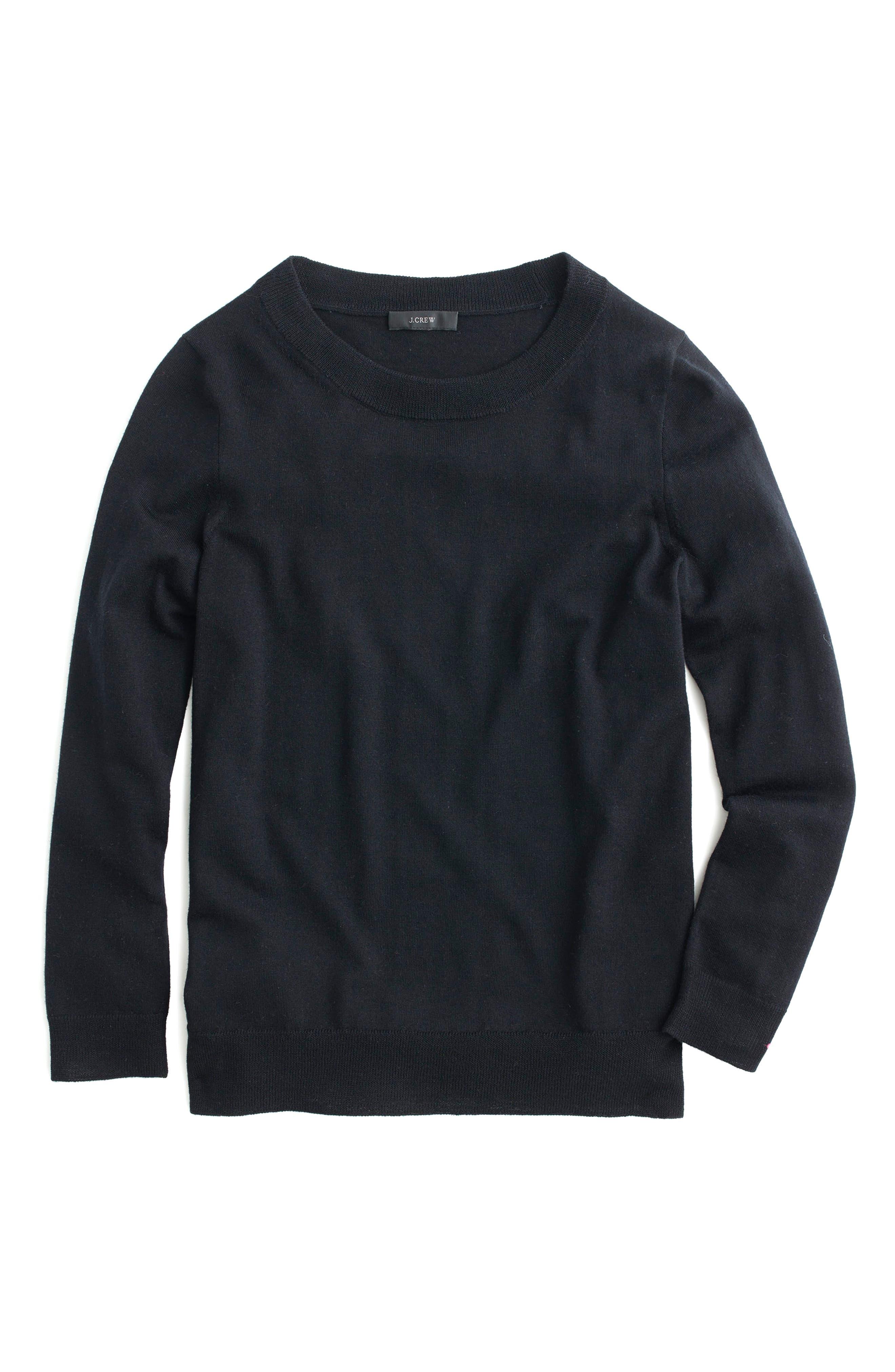 Tippi Merino Wool Sweater,                         Main,                         color, BLACK