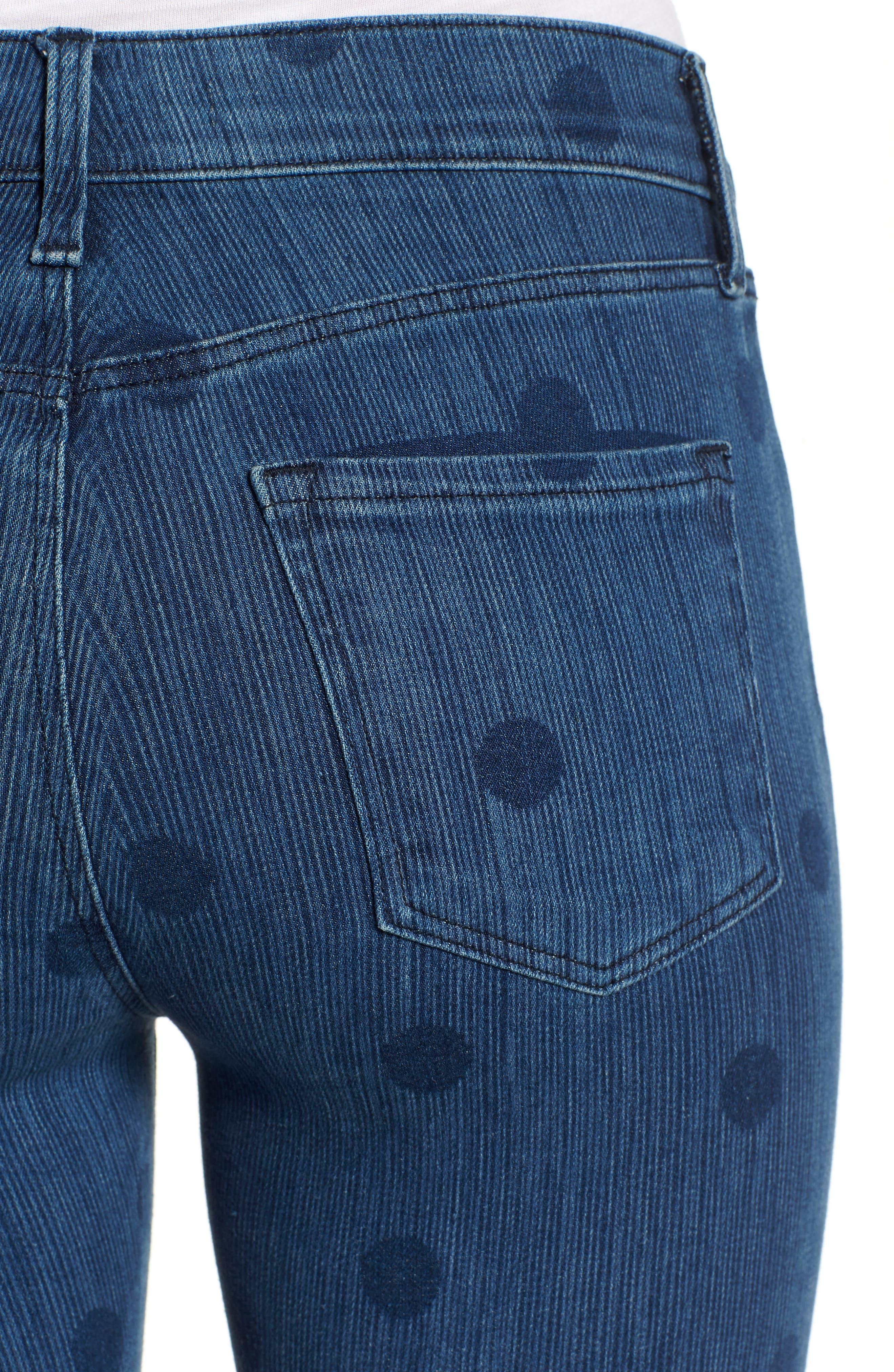 835 Capri Skinny Jeans,                             Alternate thumbnail 4, color,                             400