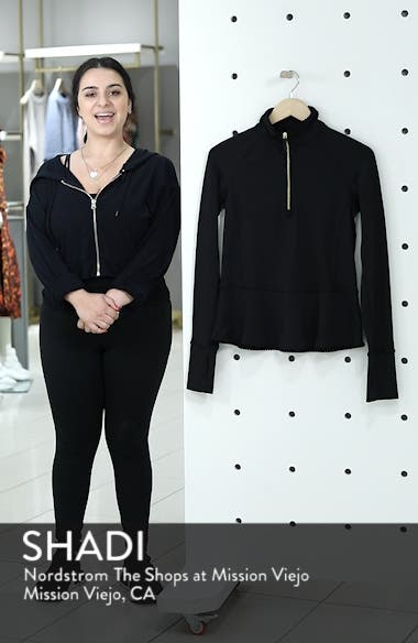 peplum half-zip pullover, sales video thumbnail