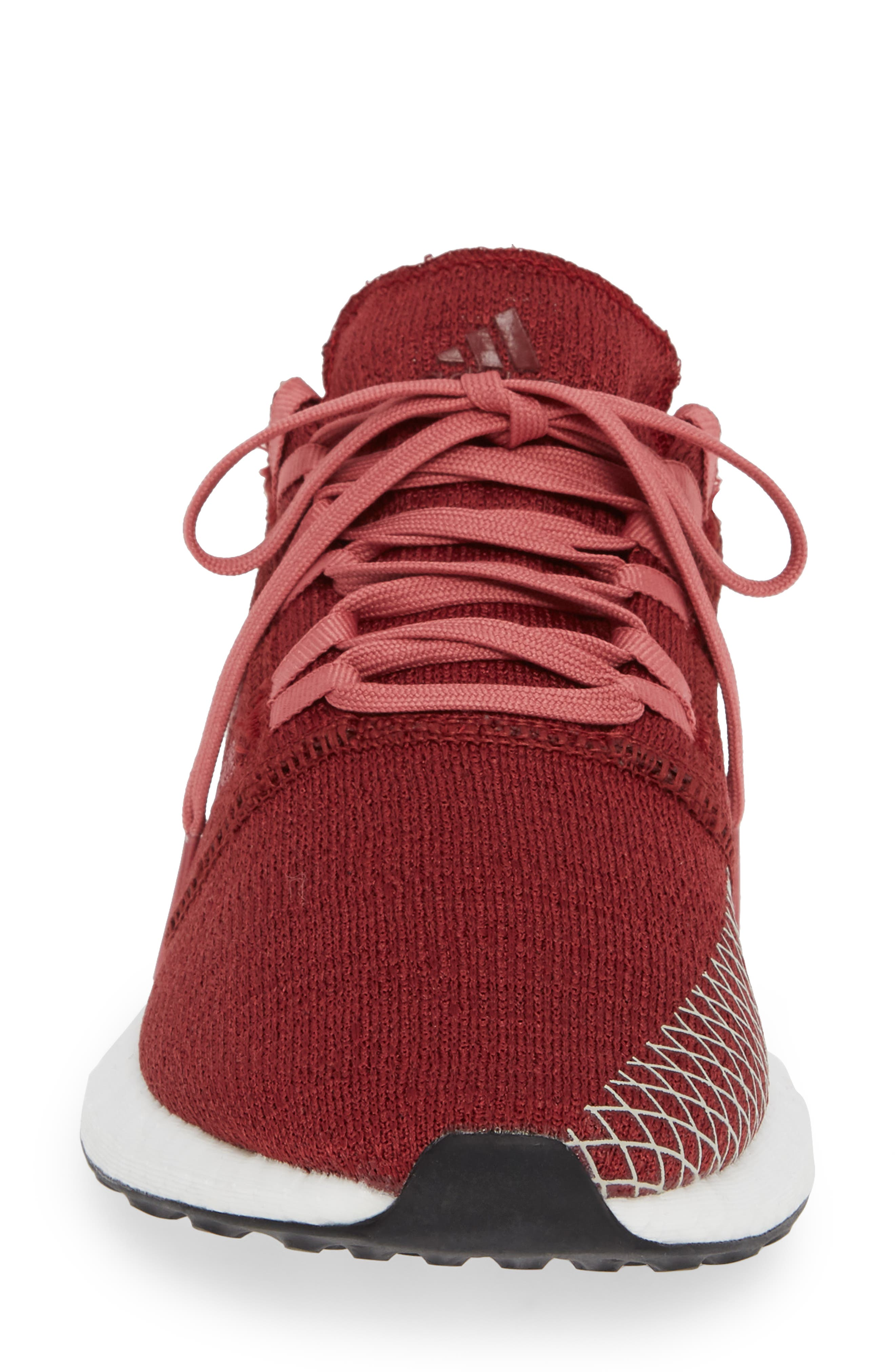PureBoost X Element Knit Running Shoe,                             Alternate thumbnail 4, color,                             NOBLE MAROON/ MAROON/ BROWN