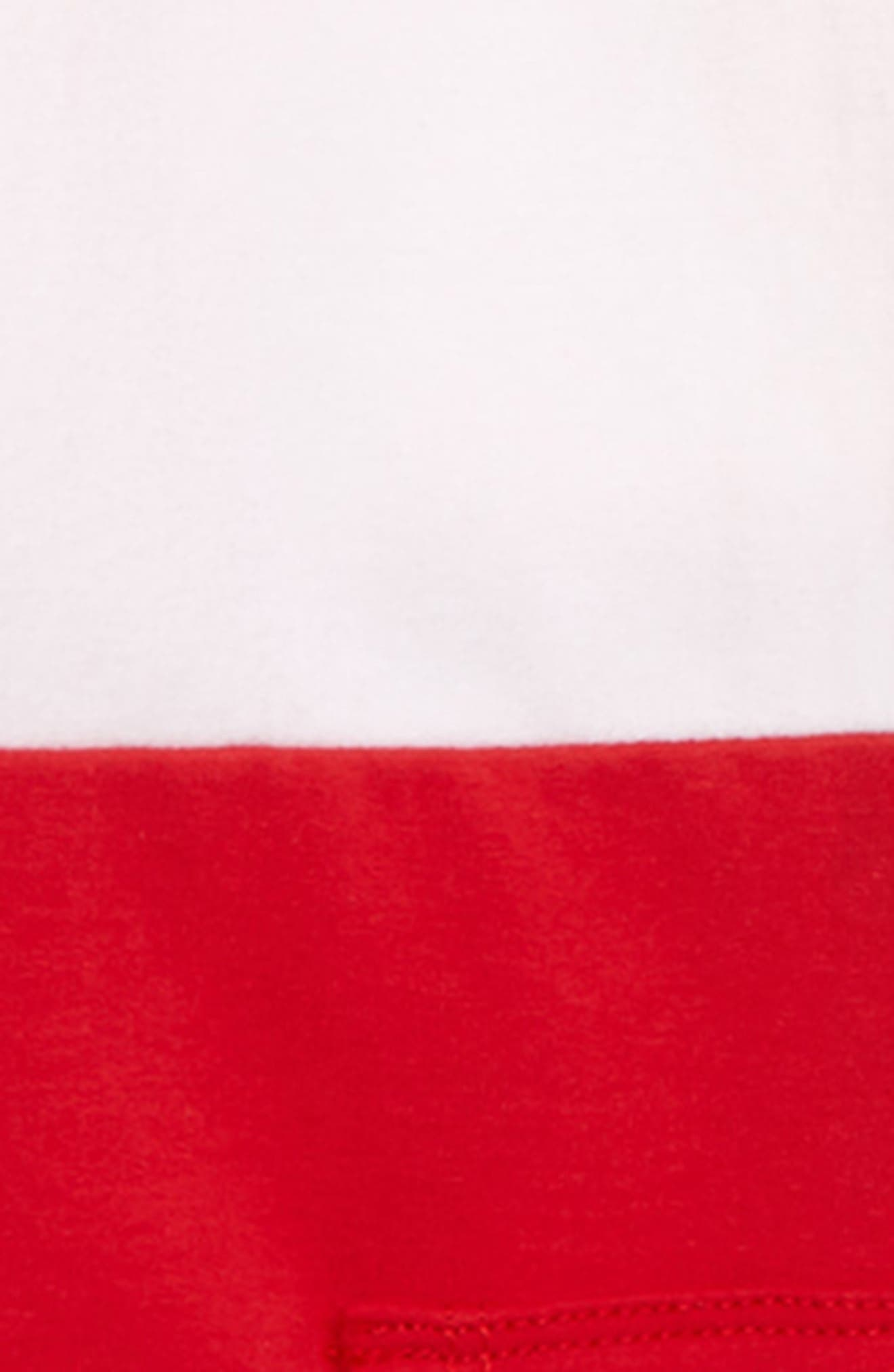 Colorblock Quarter Zip Hoodie,                             Alternate thumbnail 2, color,                             RED PEPPER