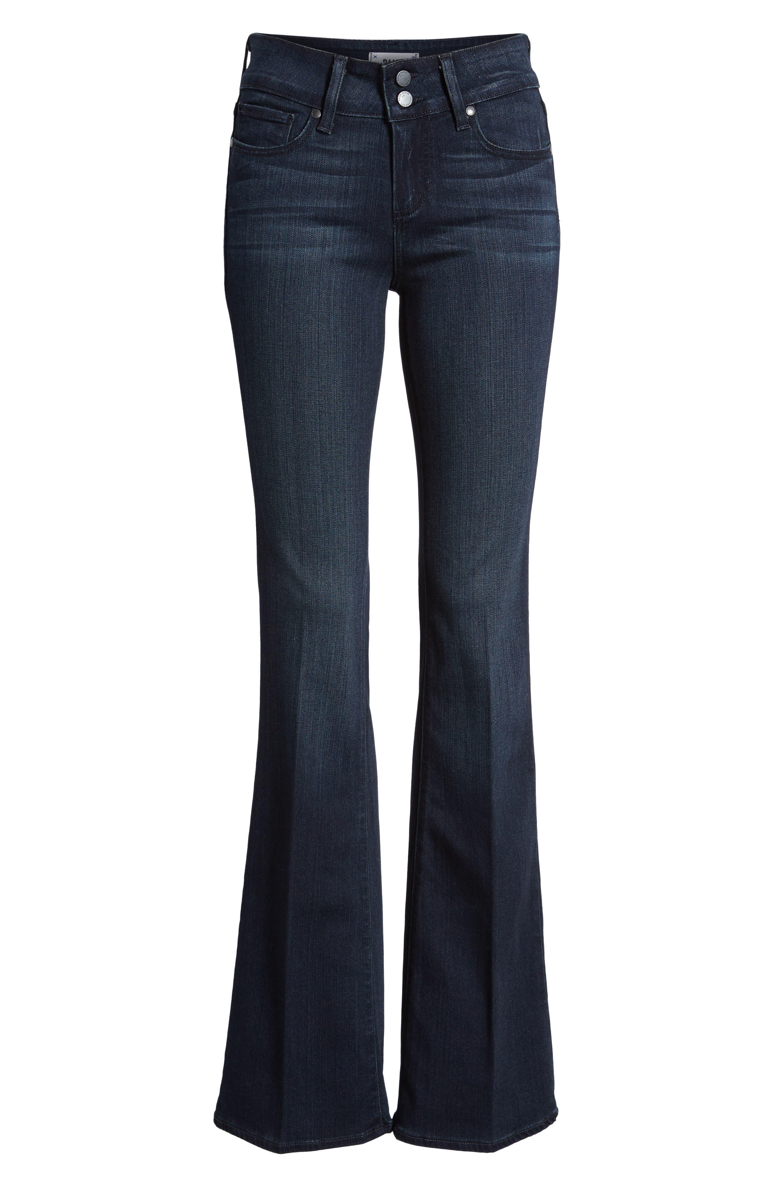 Transcend - Hidden Hills High Waist Bootcut Jeans,                             Alternate thumbnail 3, color,                             400