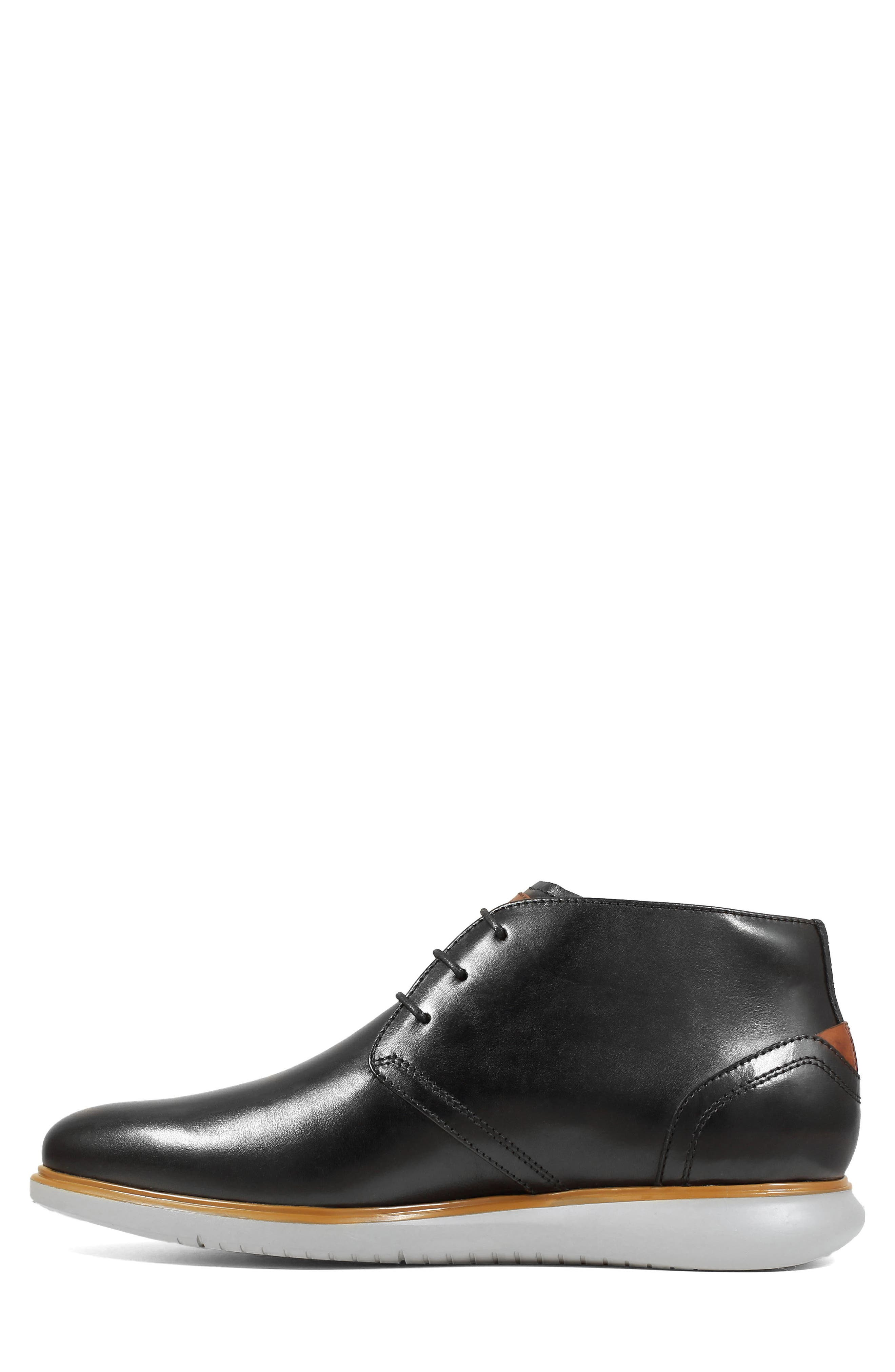 FLORSHEIM,                             Fuel Chukka Boot,                             Alternate thumbnail 8, color,                             BLACK LEATHER