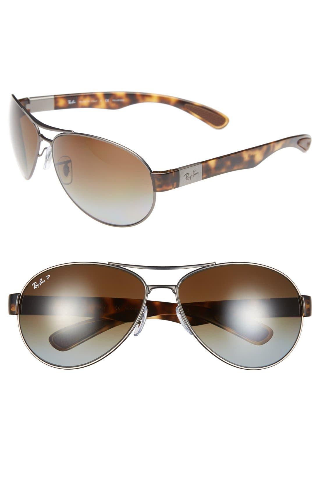 Ray-Ban 6m Aviator Sunglasses - Gunmetal/ Brown Gradient