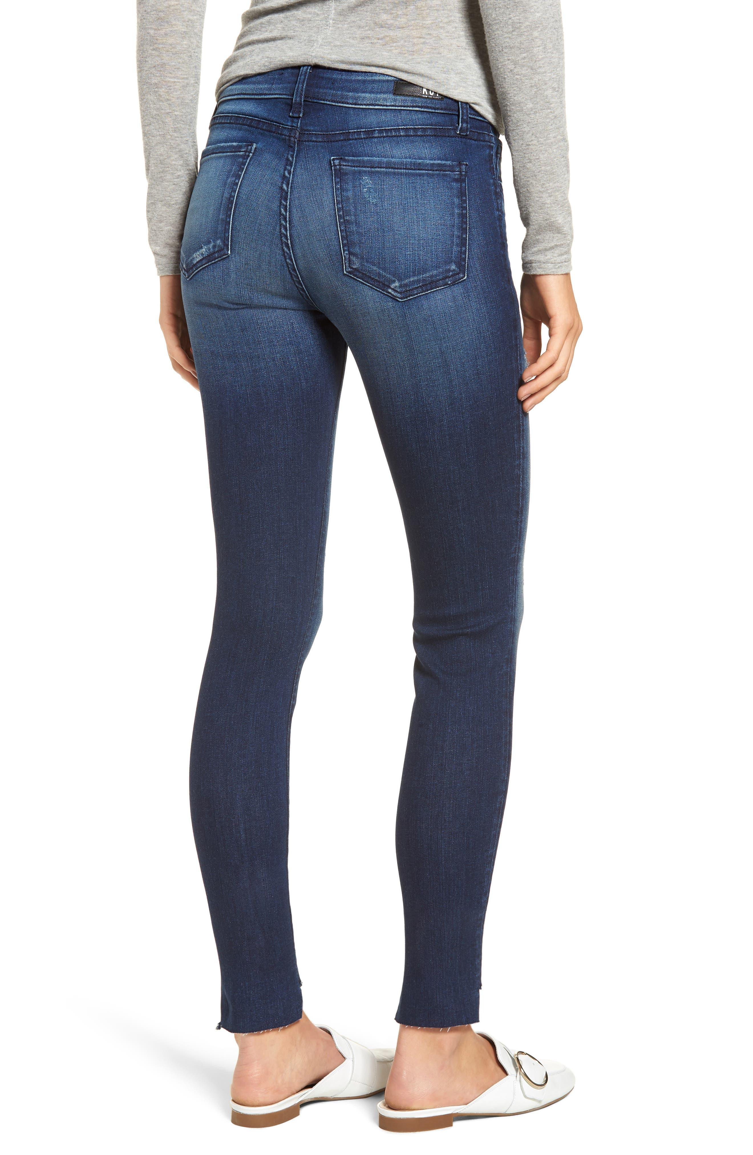 Connie Step Hem Skinny Jeans,                             Alternate thumbnail 2, color,                             CLEAN