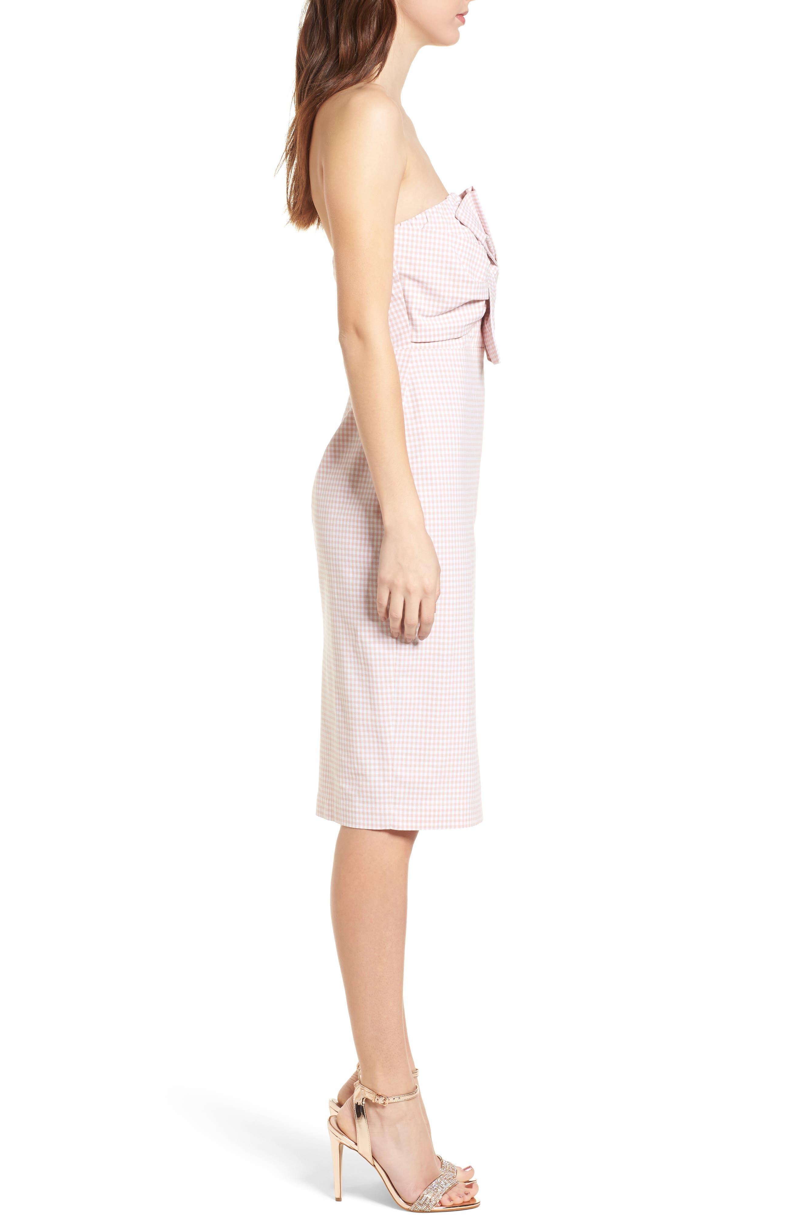 Strapless Gingham Dress,                             Alternate thumbnail 6, color,
