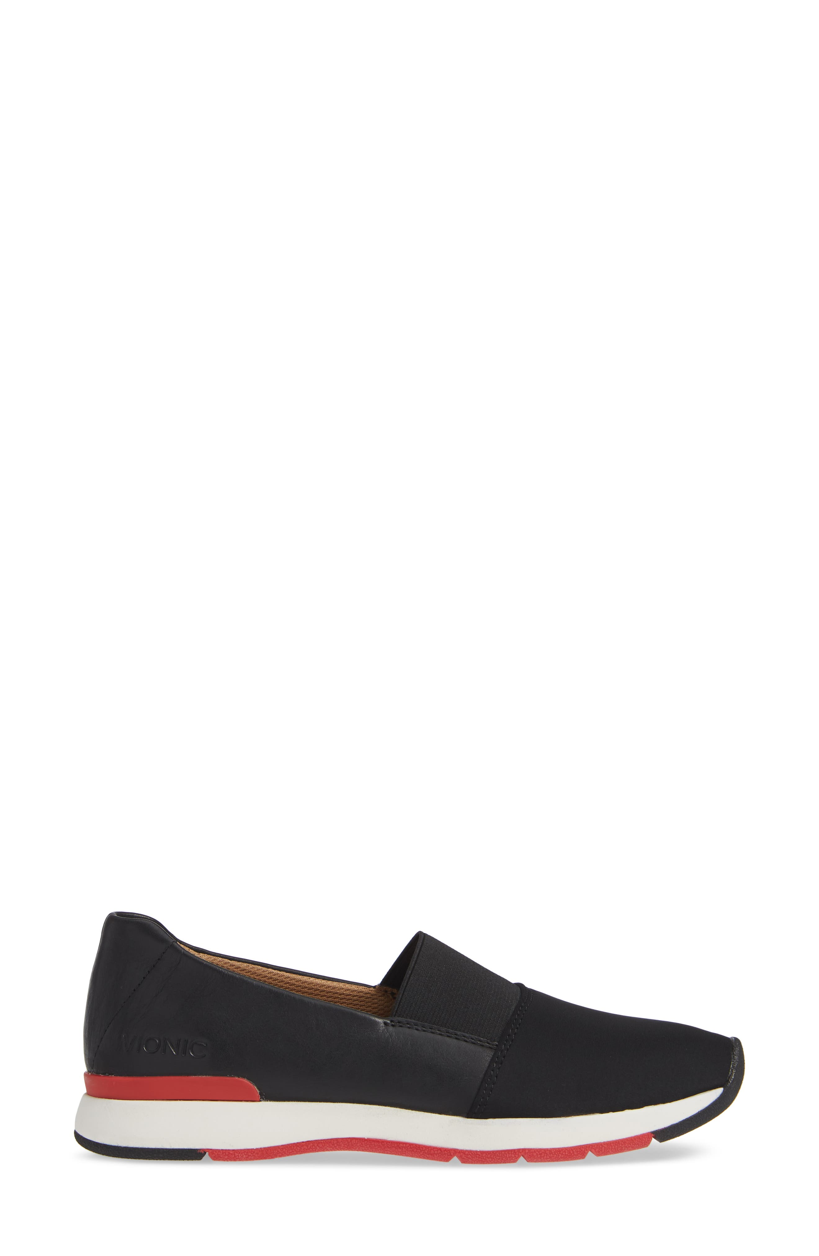 Cameo Slip-On Shoe,                             Alternate thumbnail 3, color,                             BLACK LEATHER NEOPRENE