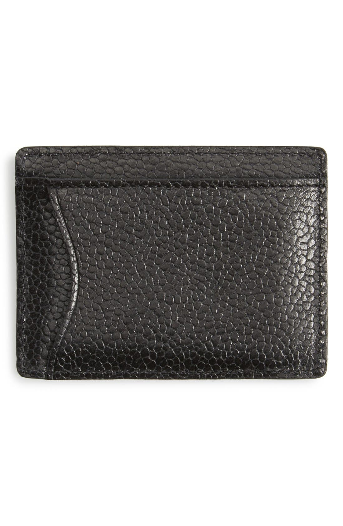 Pebbled Leather Card Case,                             Alternate thumbnail 2, color,                             007